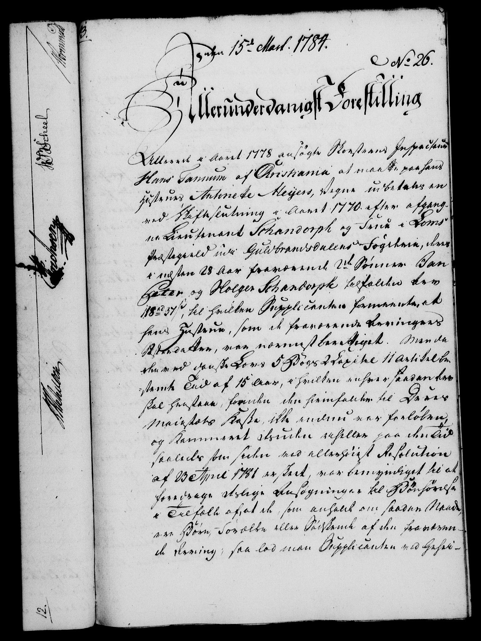RA, Rentekammeret, Kammerkanselliet, G/Gf/Gfa/L0066: Norsk relasjons- og resolusjonsprotokoll (merket RK 52.66), 1784, s. 196