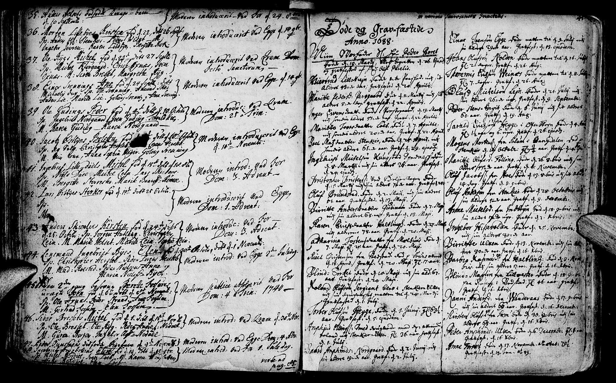 SAT, Ministerialprotokoller, klokkerbøker og fødselsregistre - Nord-Trøndelag, 746/L0439: Ministerialbok nr. 746A01, 1688-1759, s. 48