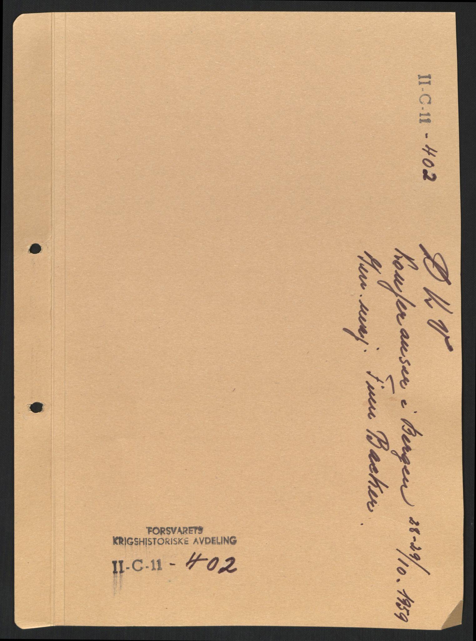 RA, Forsvaret, Forsvarets krigshistoriske avdeling, Y/Yb/L0100: II-C-11-401-402  -  4. Divisjon., 1940-1962, s. 162