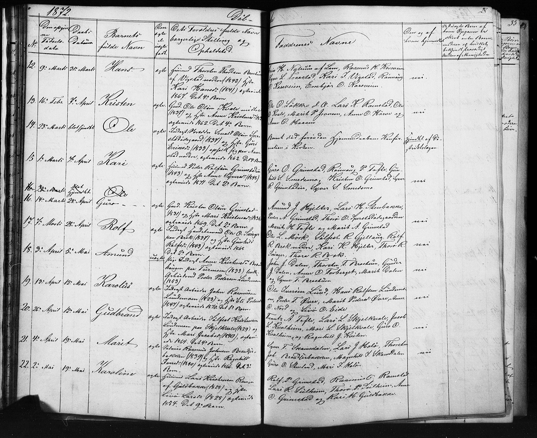 SAH, Skjåk prestekontor, Klokkerbok nr. 1, 1865-1893, s. 28