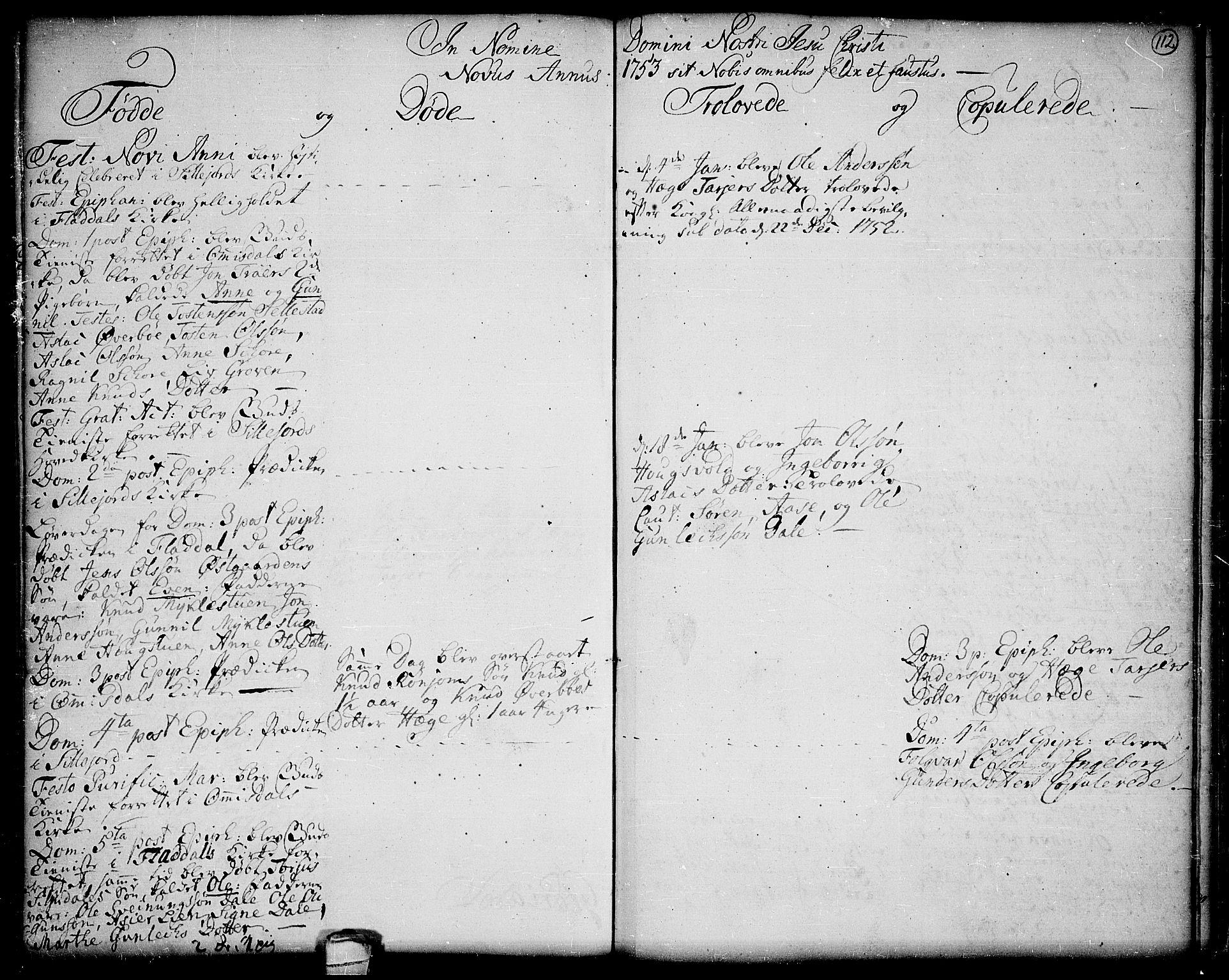SAKO, Seljord kirkebøker, F/Fa/L0006: Ministerialbok nr. I 6, 1744-1755, s. 112