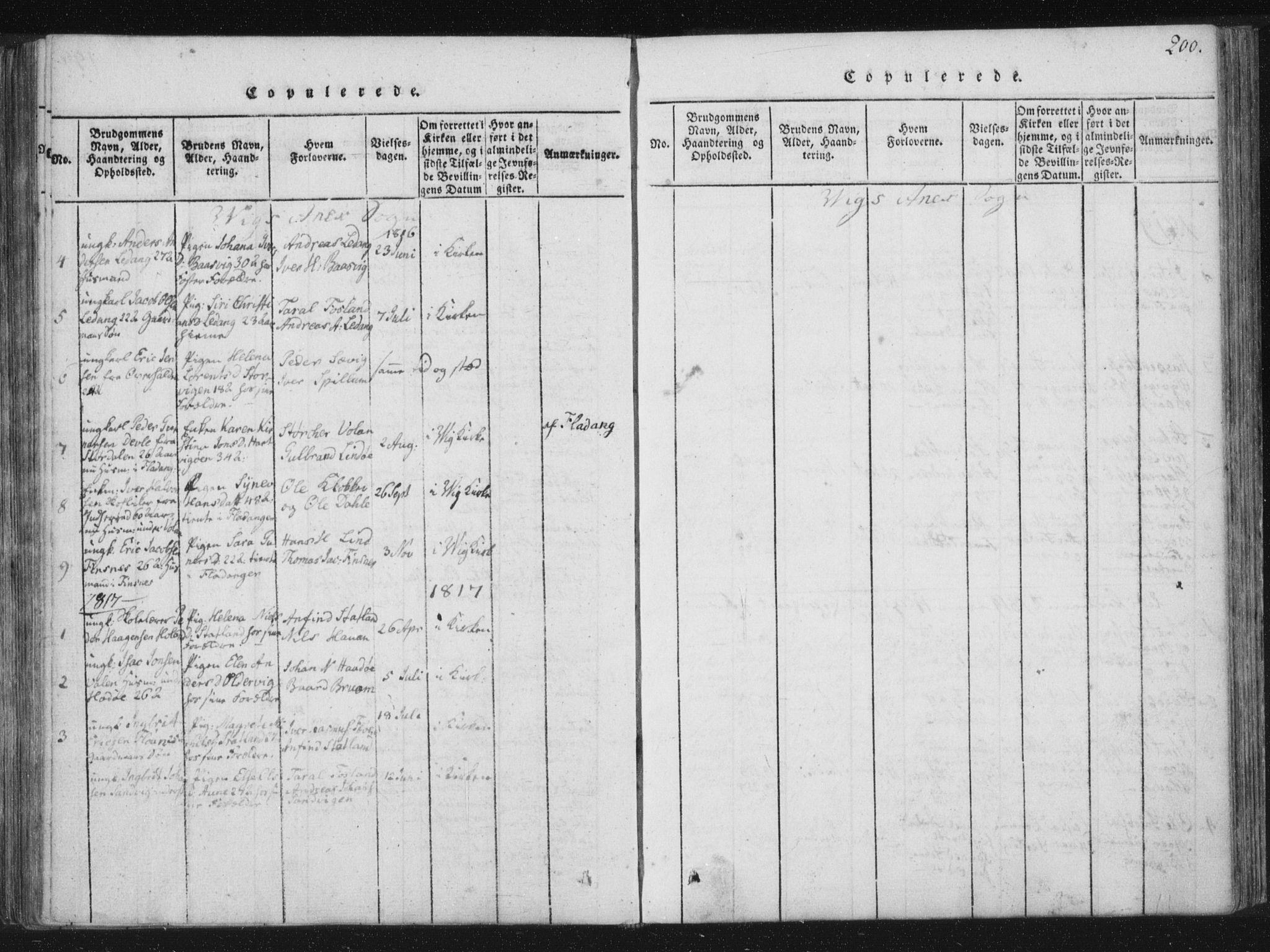 SAT, Ministerialprotokoller, klokkerbøker og fødselsregistre - Nord-Trøndelag, 773/L0609: Ministerialbok nr. 773A03 /2, 1815-1830, s. 200