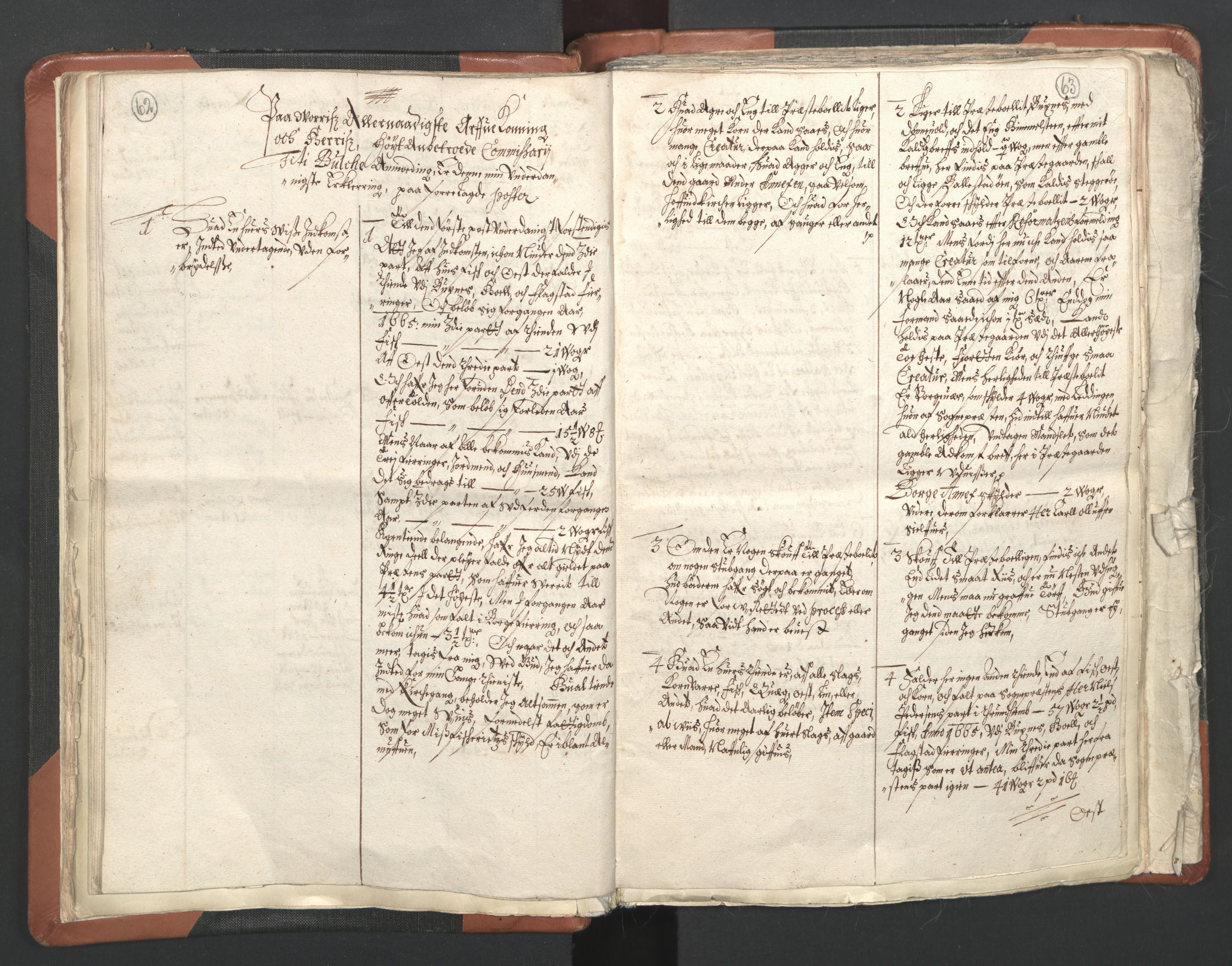 RA, Sogneprestenes manntall 1664-1666, nr. 36: Lofoten og Vesterålen prosti, Senja prosti og Troms prosti, 1664-1666, s. 62-63