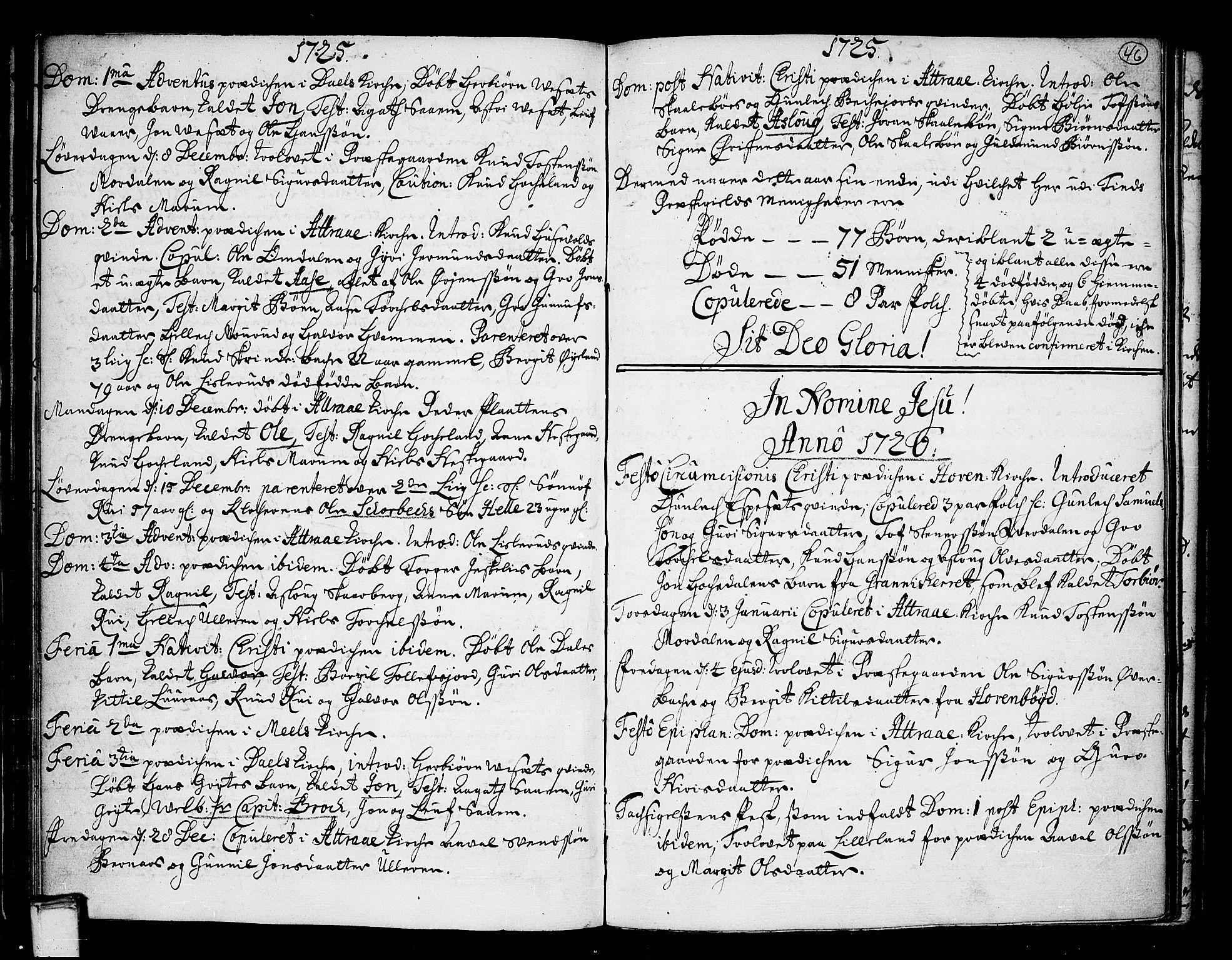SAKO, Tinn kirkebøker, F/Fa/L0001: Ministerialbok nr. I 1, 1717-1734, s. 46