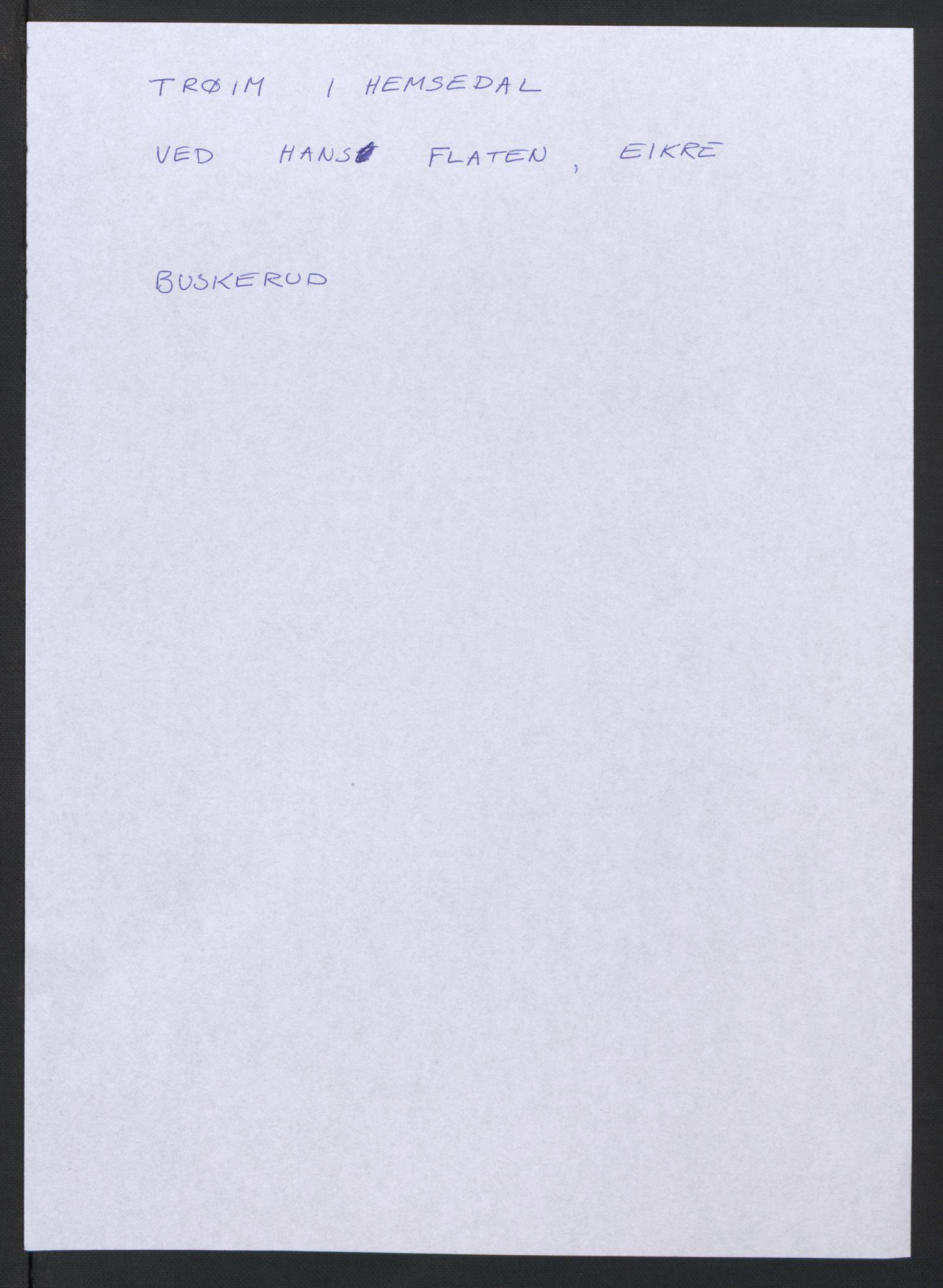 RA, Samlinger til kildeutgivelse, Diplomavskriftsamlingen, s. 1