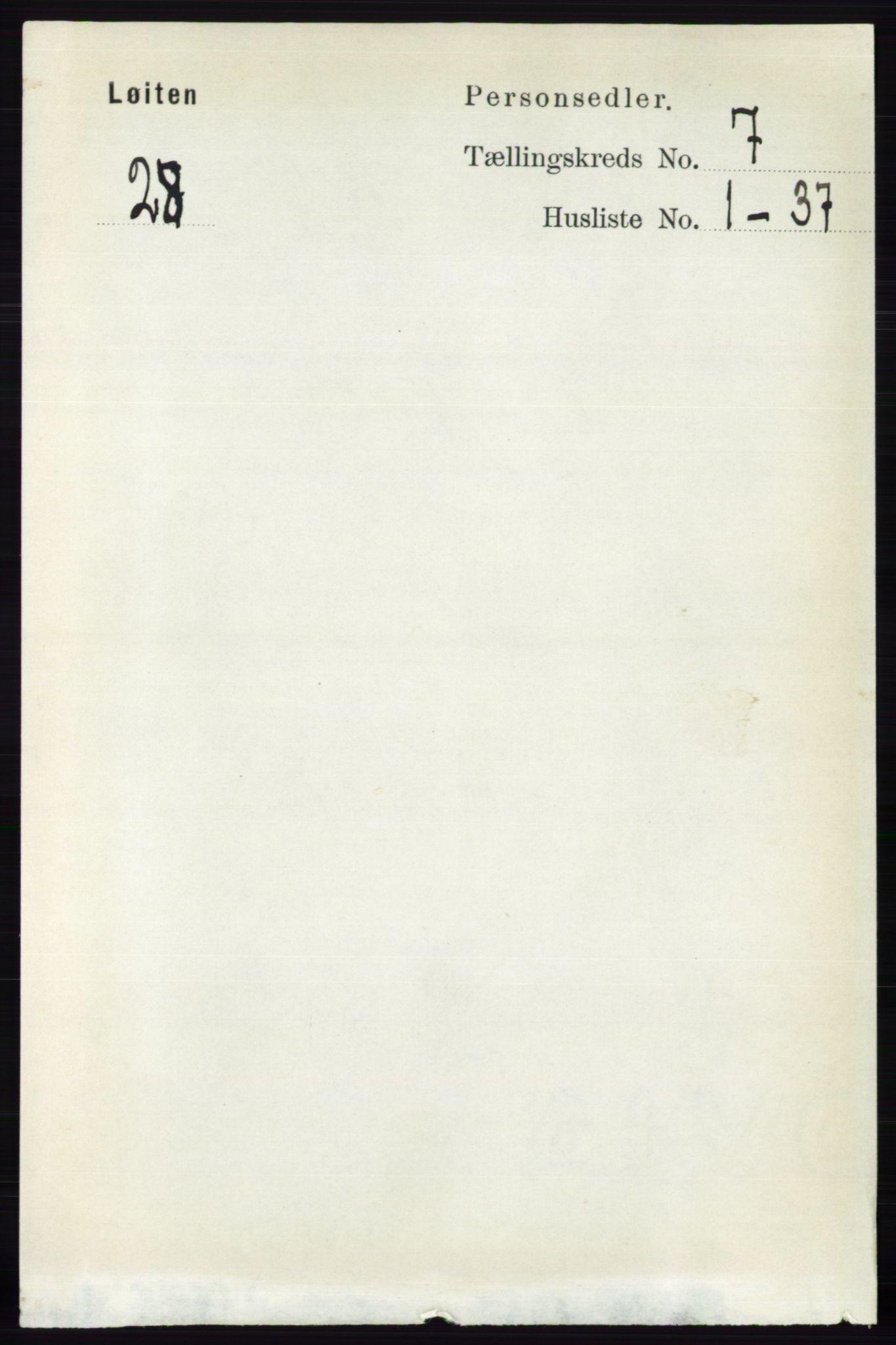 RA, Folketelling 1891 for 0415 Løten herred, 1891, s. 4407