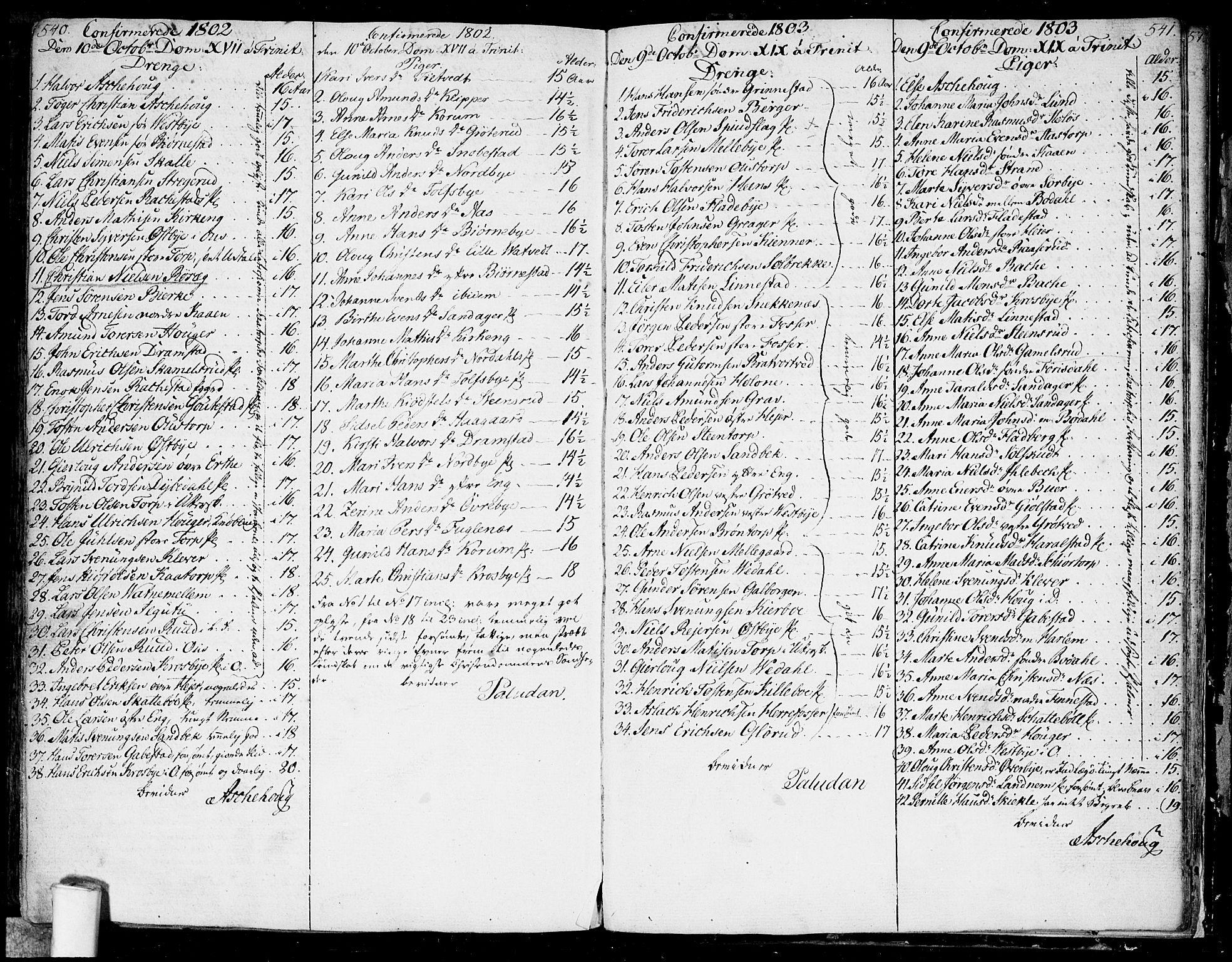 SAO, Rakkestad prestekontor Kirkebøker, F/Fa/L0005: Ministerialbok nr. I 5, 1784-1814, s. 540-541