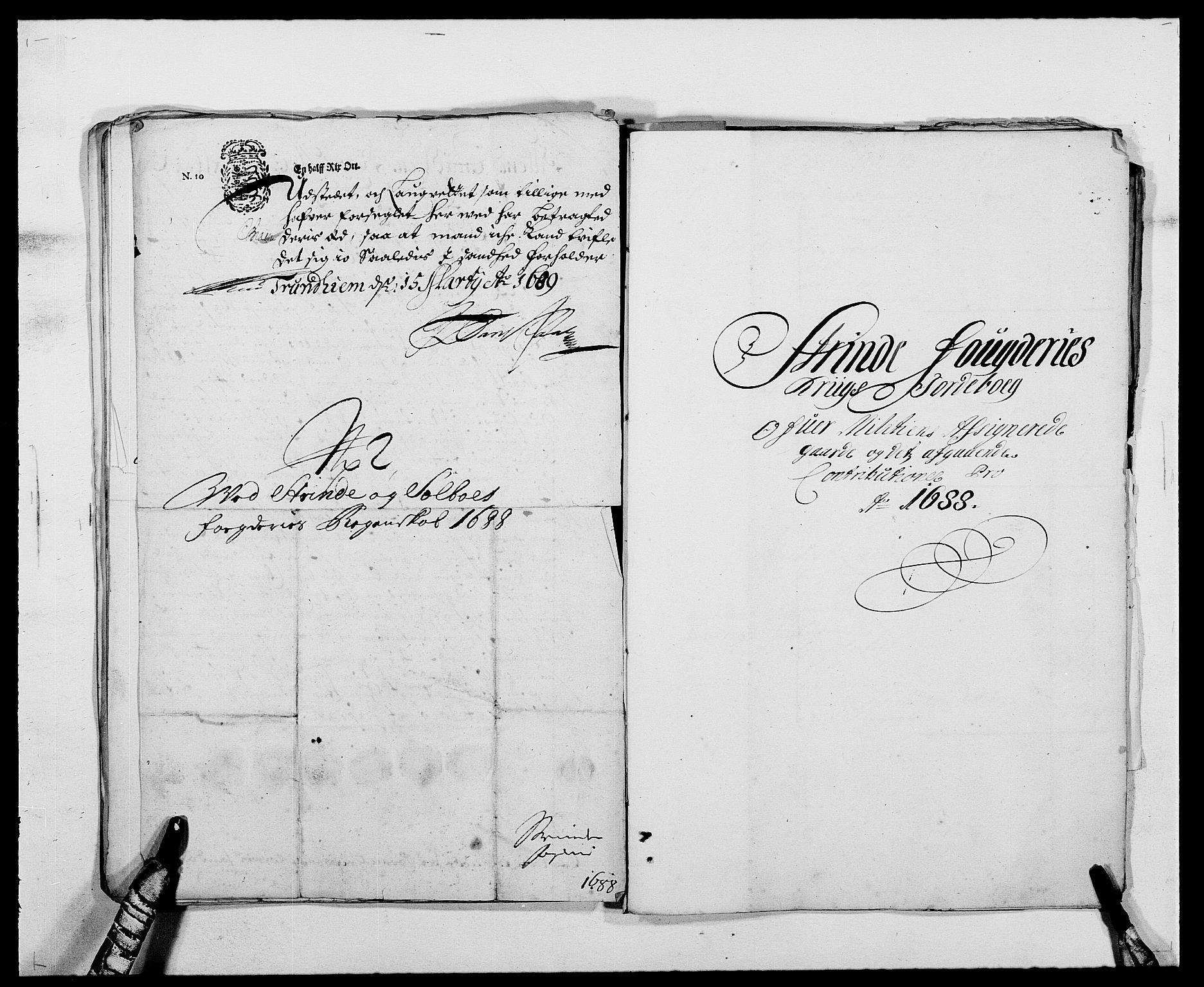 RA, Rentekammeret inntil 1814, Reviderte regnskaper, Fogderegnskap, R61/L4101: Fogderegnskap Strinda og Selbu, 1687-1688, s. 255