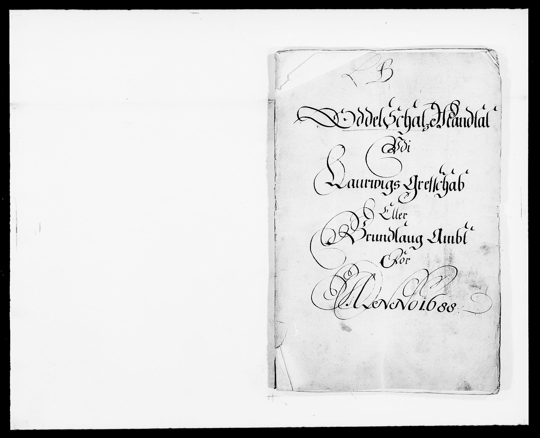 RA, Rentekammeret inntil 1814, Reviderte regnskaper, Fogderegnskap, R33/L1971: Fogderegnskap Larvik grevskap, 1688-1689, s. 31