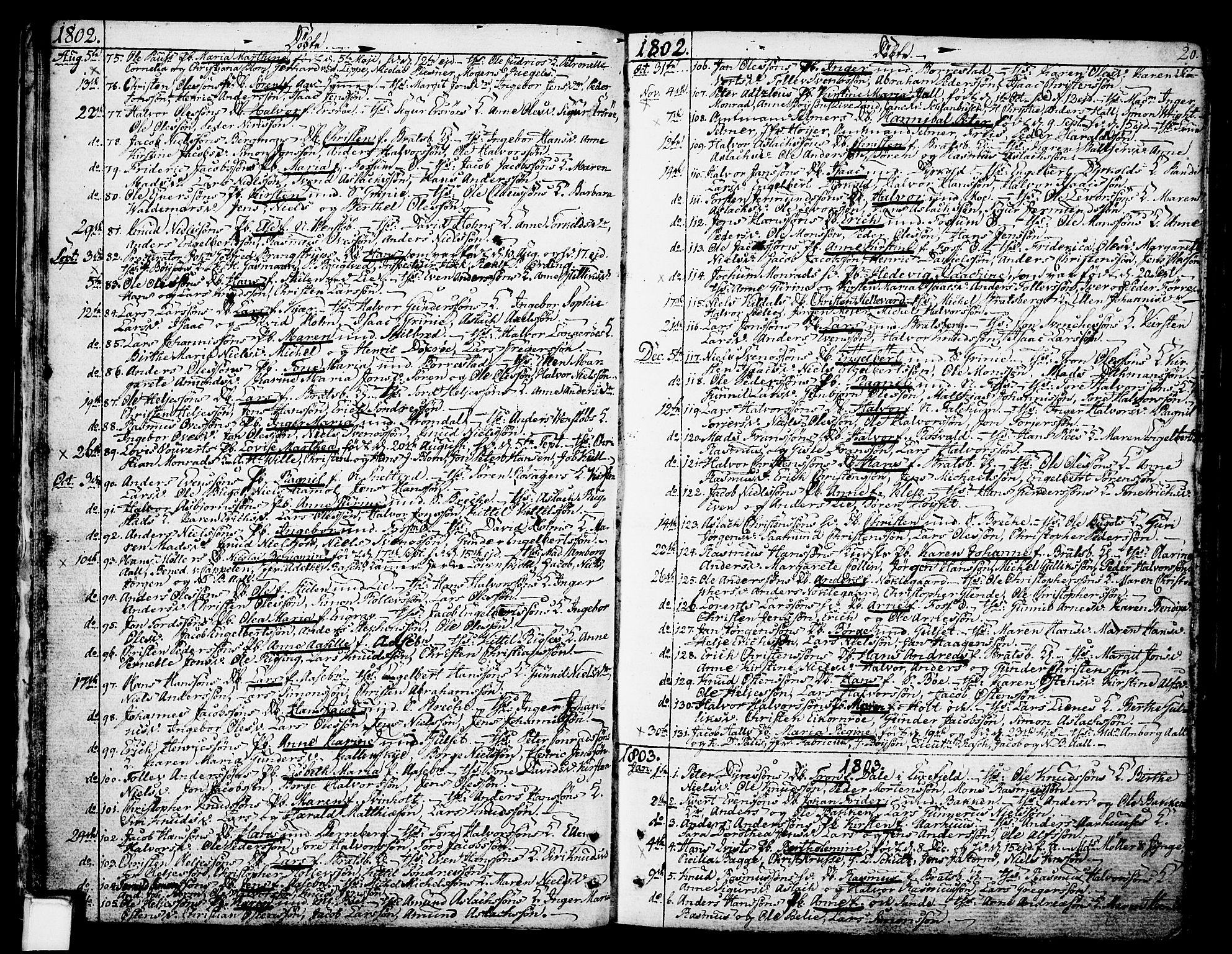 SAKO, Gjerpen kirkebøker, F/Fa/L0003: Ministerialbok nr. 3, 1796-1814, s. 20