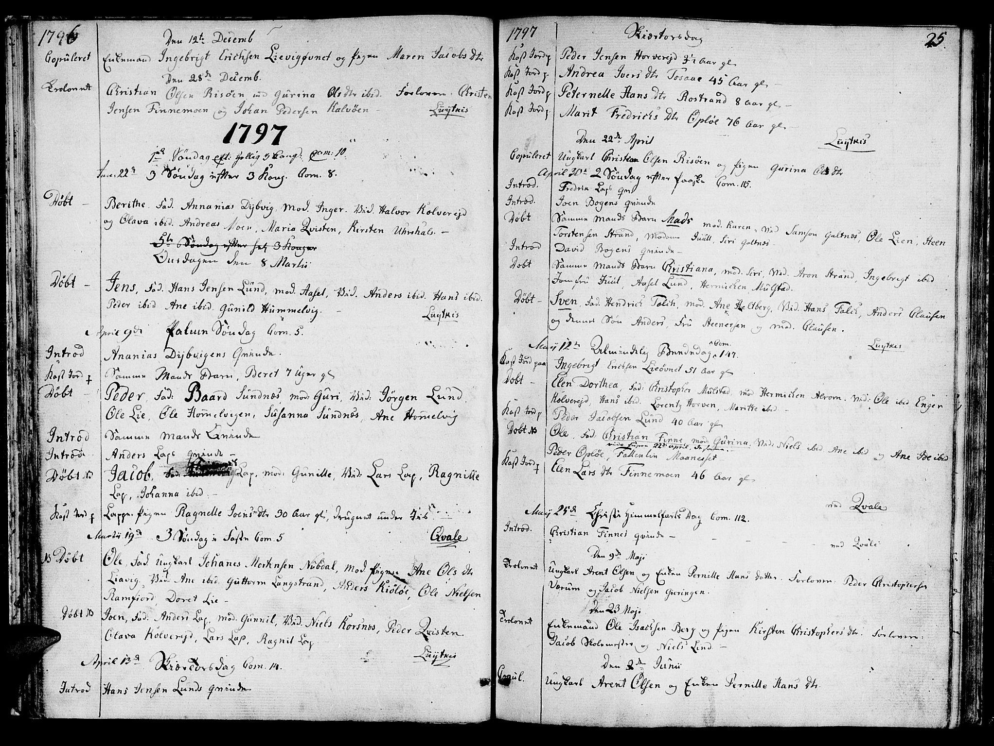 SAT, Ministerialprotokoller, klokkerbøker og fødselsregistre - Nord-Trøndelag, 780/L0633: Ministerialbok nr. 780A02 /1, 1787-1814, s. 25