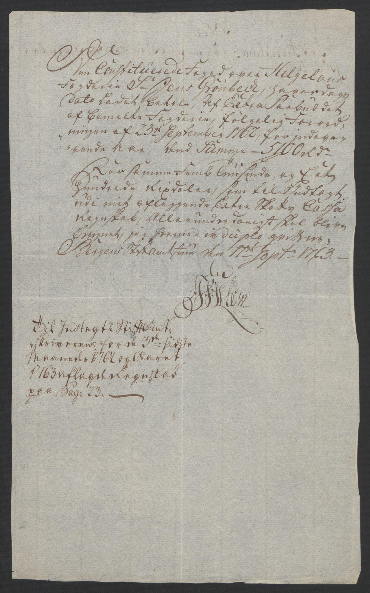 RA, Rentekammeret inntil 1814, Reviderte regnskaper, Fogderegnskap, R65/L4573: Ekstraskatten Helgeland, 1762-1772, s. 42