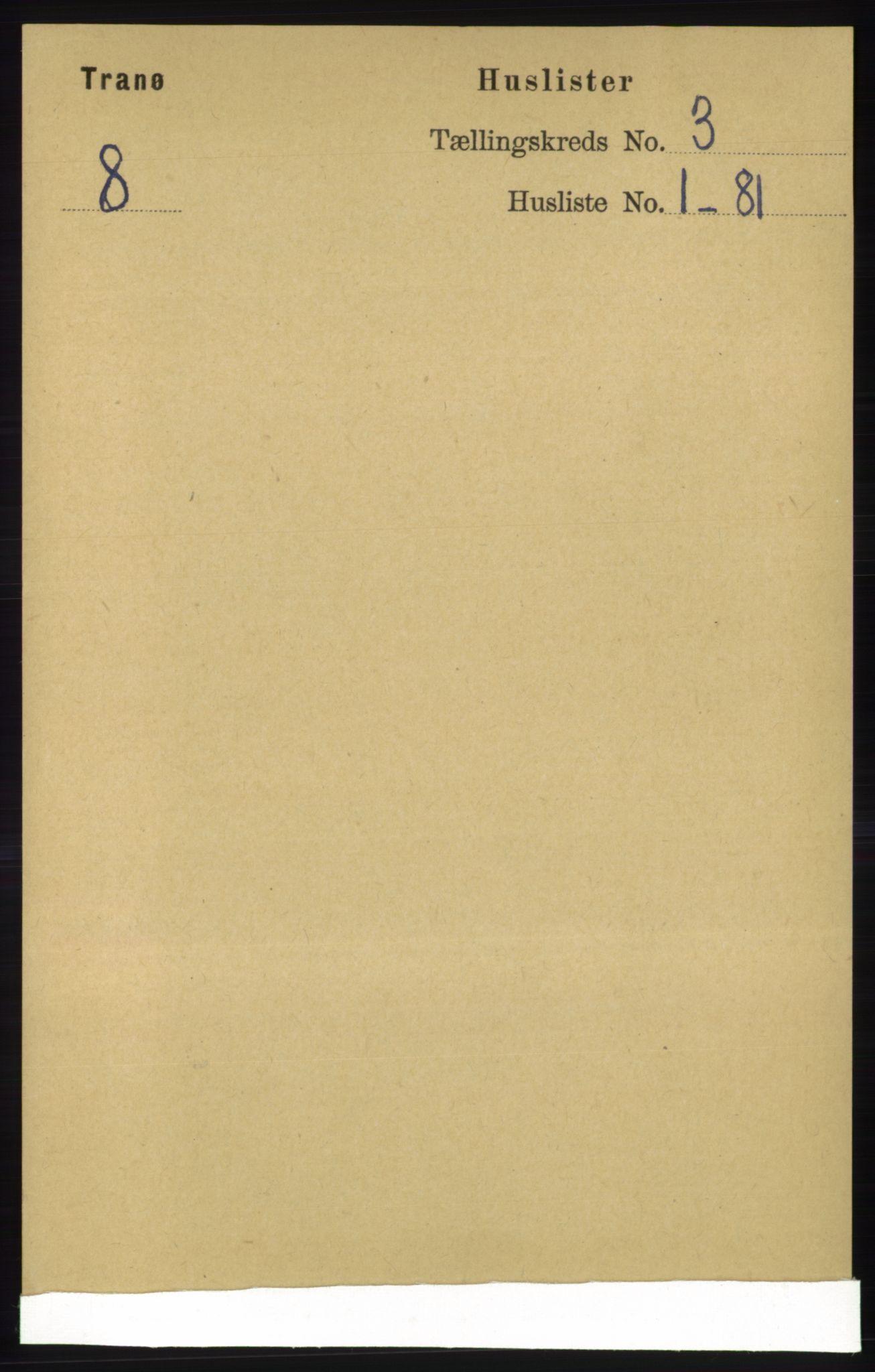 RA, Folketelling 1891 for 1927 Tranøy herred, 1891, s. 803