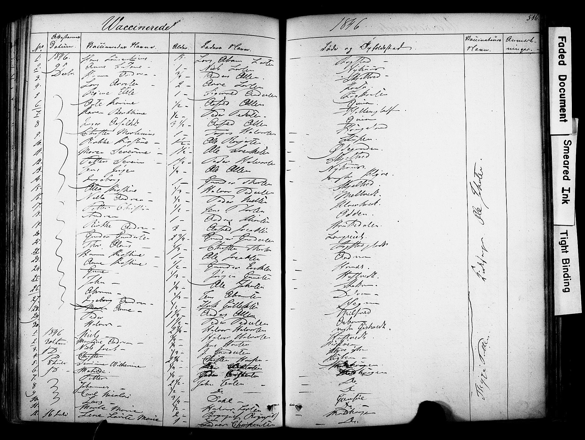SAKO, Solum kirkebøker, F/Fa/L0006: Ministerialbok nr. I 6, 1844-1855, s. 516