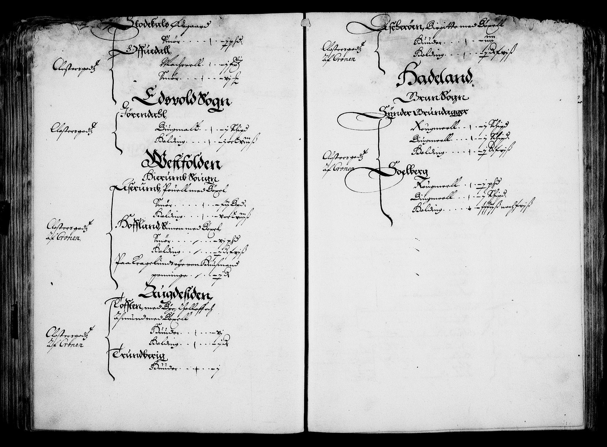 RA, Rentekammeret inntil 1814, Realistisk ordnet avdeling, On/L0001: Statens gods, 1651, s. 157