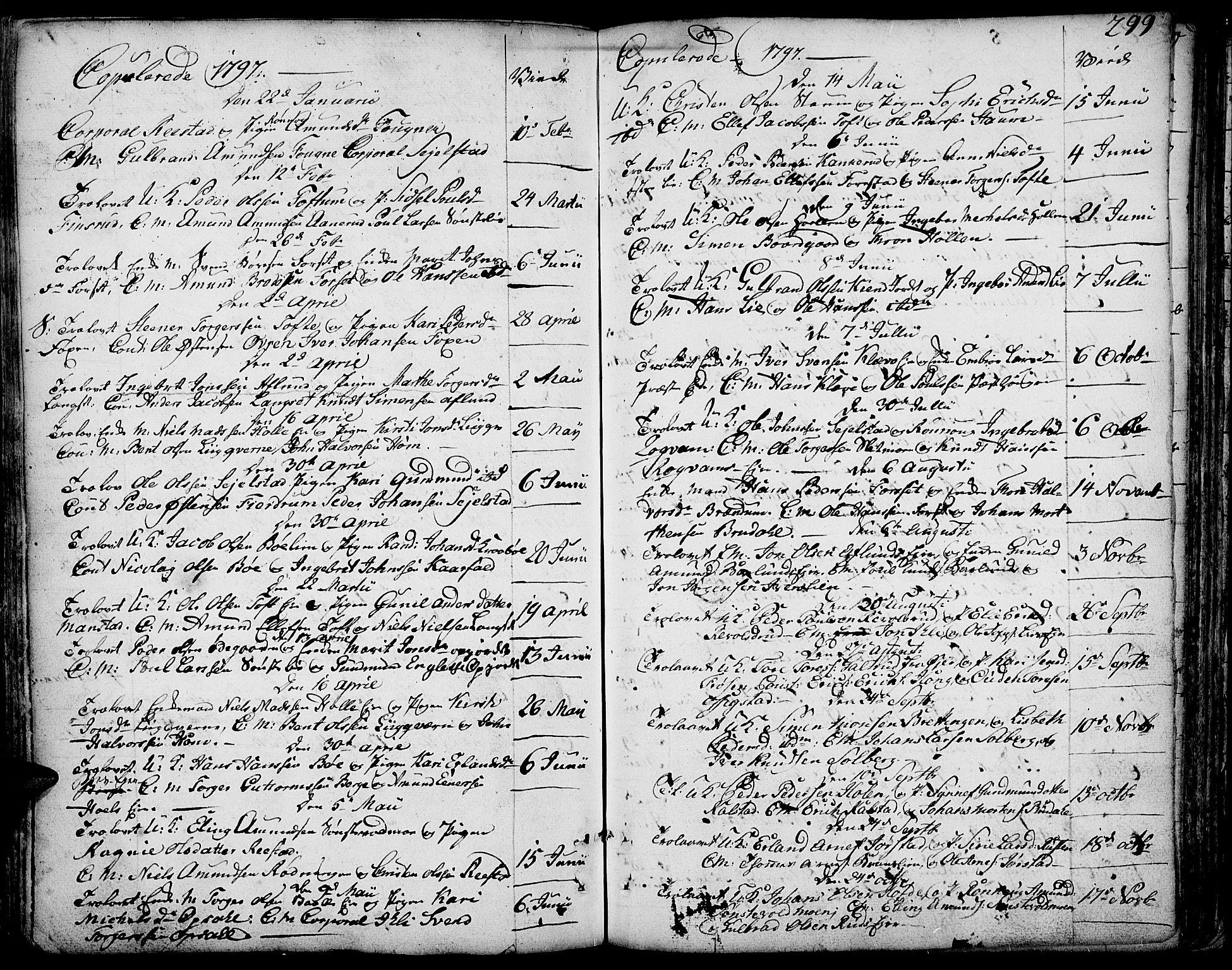 SAH, Gausdal prestekontor, Ministerialbok nr. 3, 1758-1809, s. 299