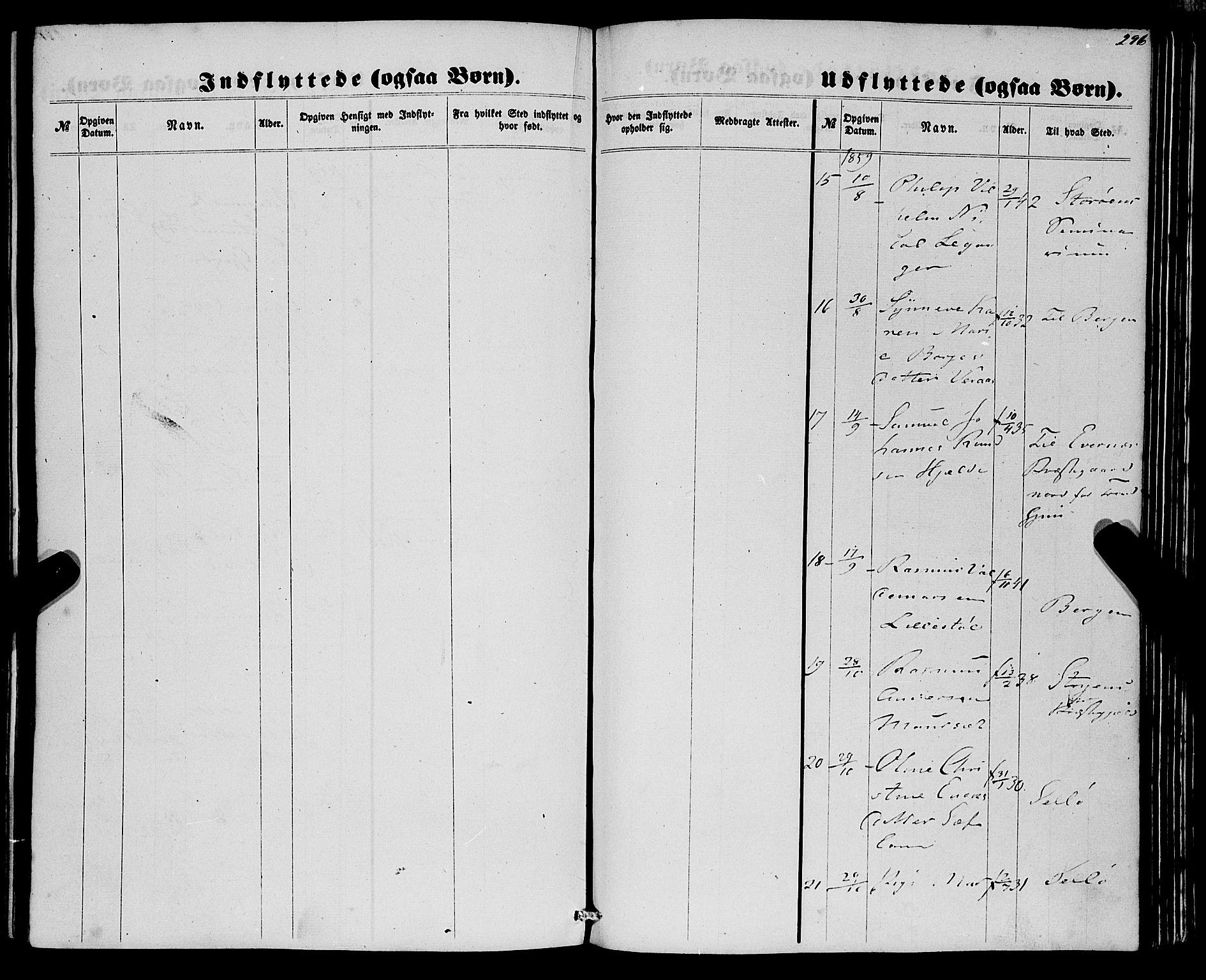 SAB, Eid Sokneprestembete, H/Haa: Ministerialbok nr. A 8, 1858-1860, s. 296