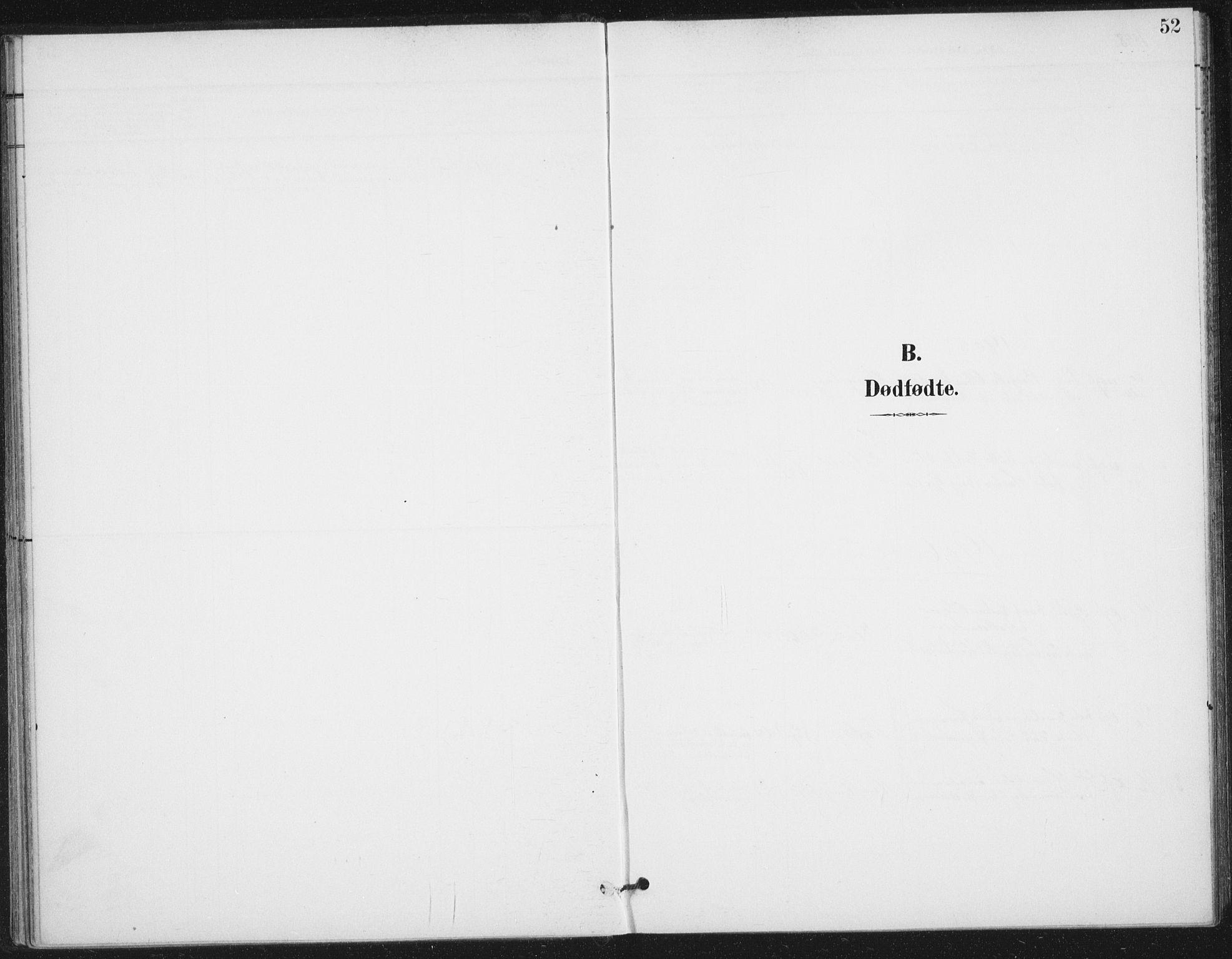 SAT, Ministerialprotokoller, klokkerbøker og fødselsregistre - Nordland, 894/L1356: Ministerialbok nr. 894A02, 1897-1914, s. 52