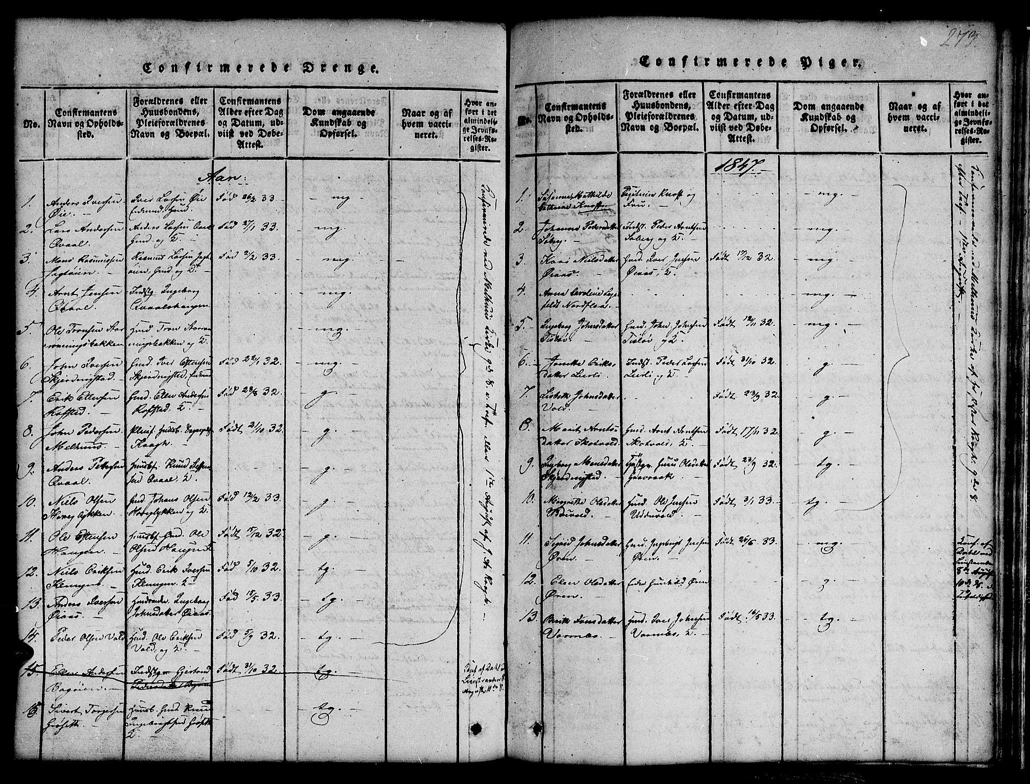 SAT, Ministerialprotokoller, klokkerbøker og fødselsregistre - Sør-Trøndelag, 691/L1092: Klokkerbok nr. 691C03, 1816-1852, s. 273