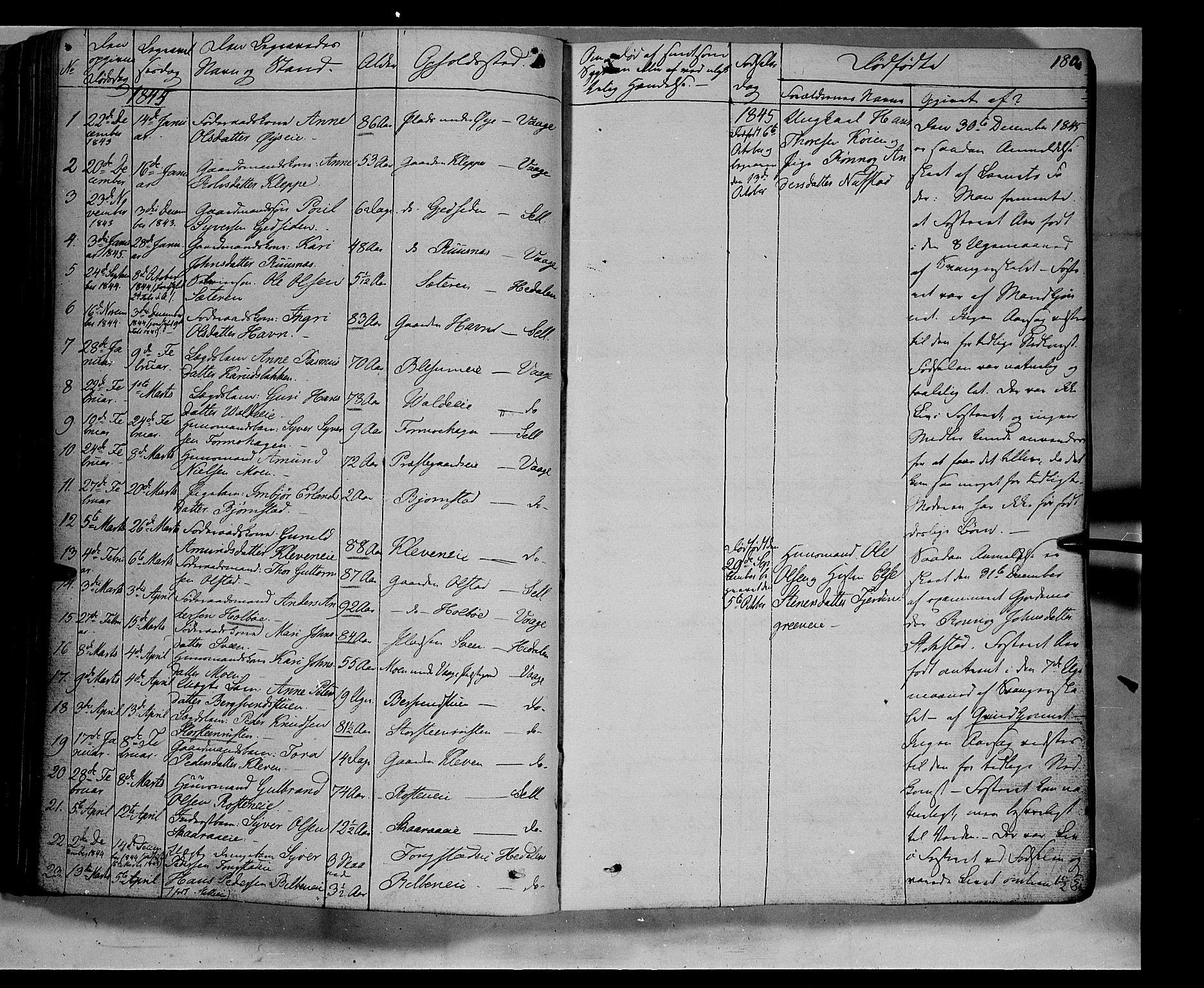 SAH, Vågå prestekontor, Ministerialbok nr. 5 /1, 1842-1856, s. 180