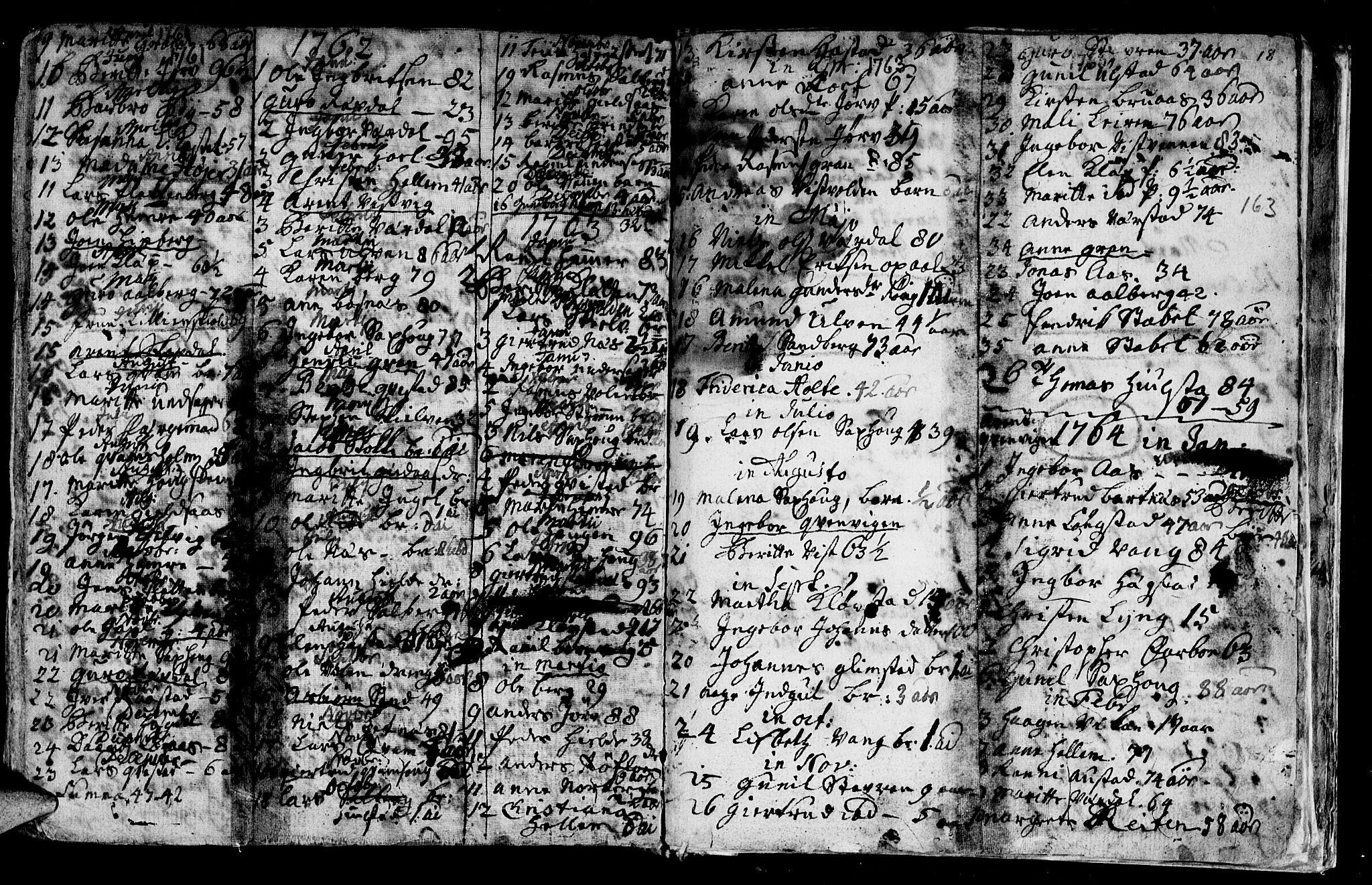 SAT, Ministerialprotokoller, klokkerbøker og fødselsregistre - Nord-Trøndelag, 730/L0272: Ministerialbok nr. 730A01, 1733-1764, s. 163