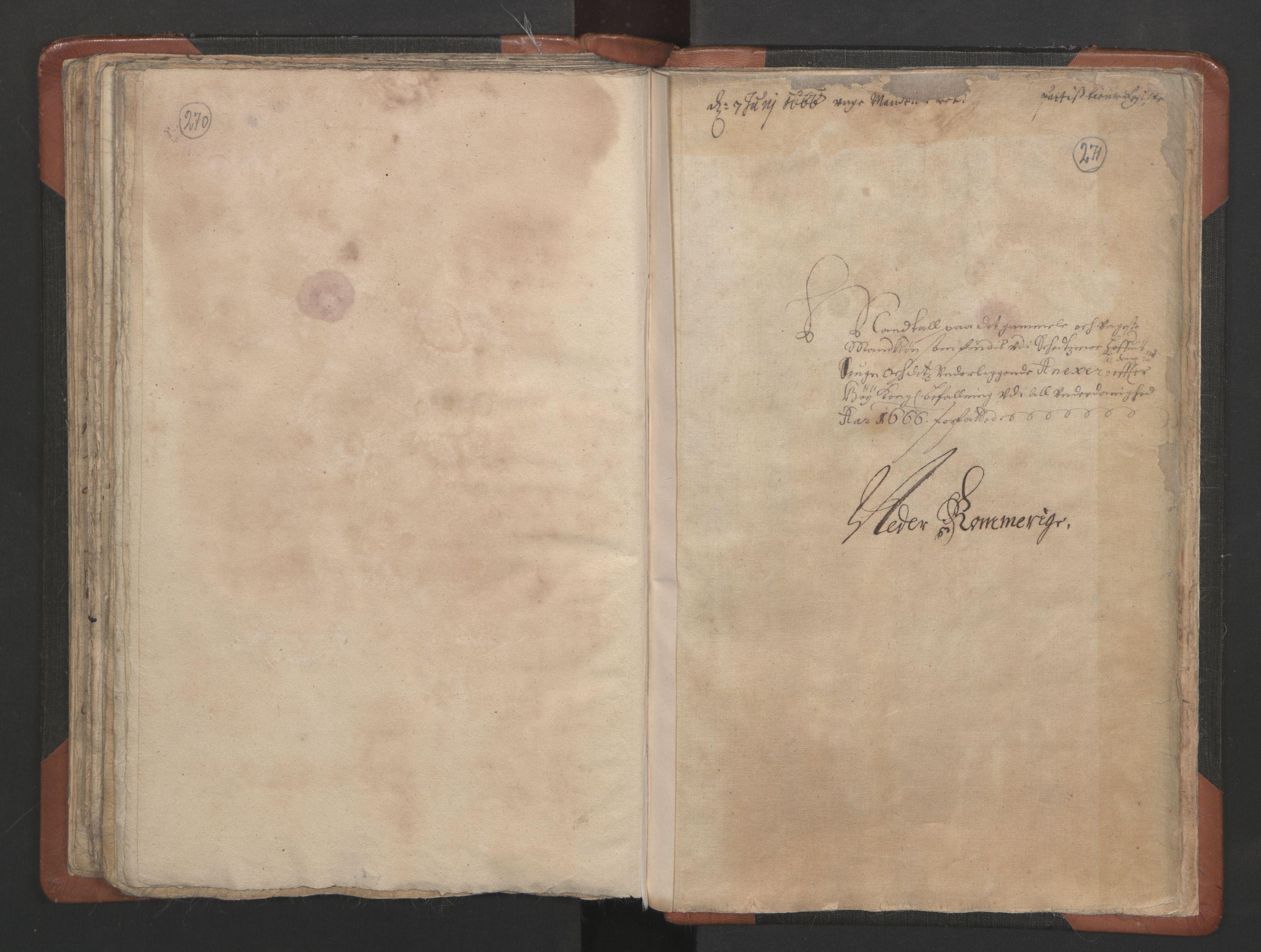 RA, Sogneprestenes manntall 1664-1666, nr. 3: Nedre Romerike prosti, 1664-1666, s. 270-271