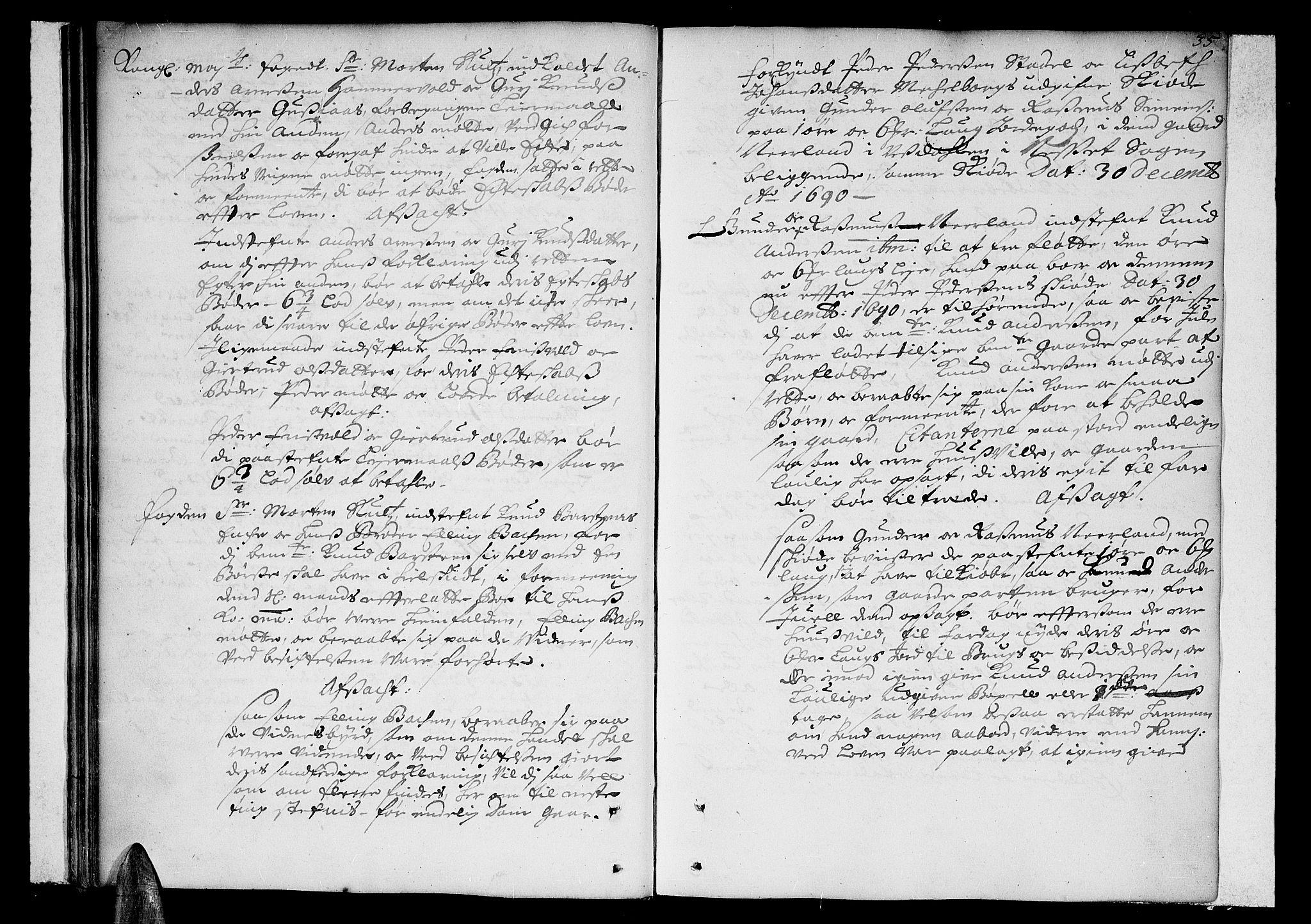 SAT, Romsdal sorenskriveri, 1/1A/L0002: Tingbok, 1690-1693, s. 34b-35a