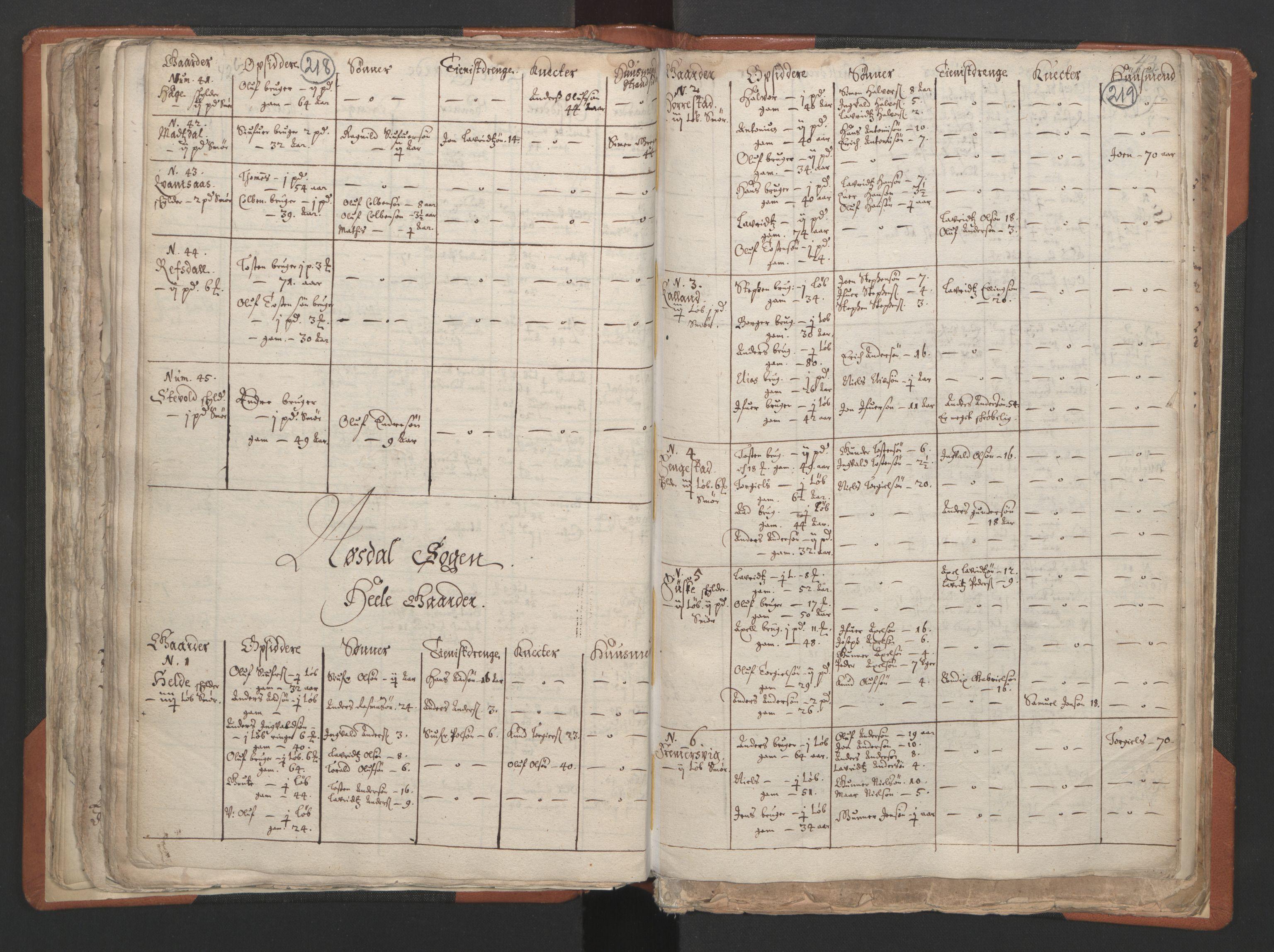 RA, Sogneprestenes manntall 1664-1666, nr. 24: Sunnfjord prosti, 1664-1666, s. 218-219