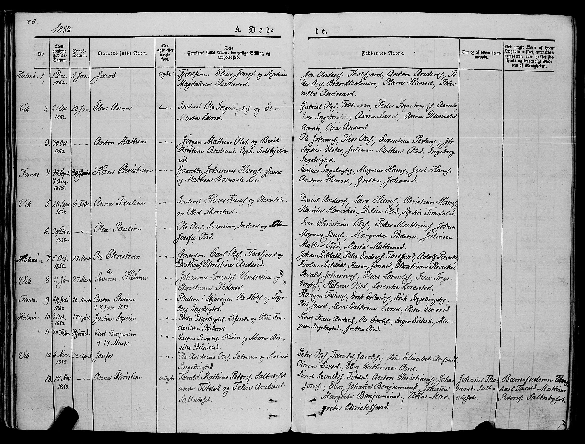 SAT, Ministerialprotokoller, klokkerbøker og fødselsregistre - Nord-Trøndelag, 773/L0614: Ministerialbok nr. 773A05, 1831-1856, s. 86