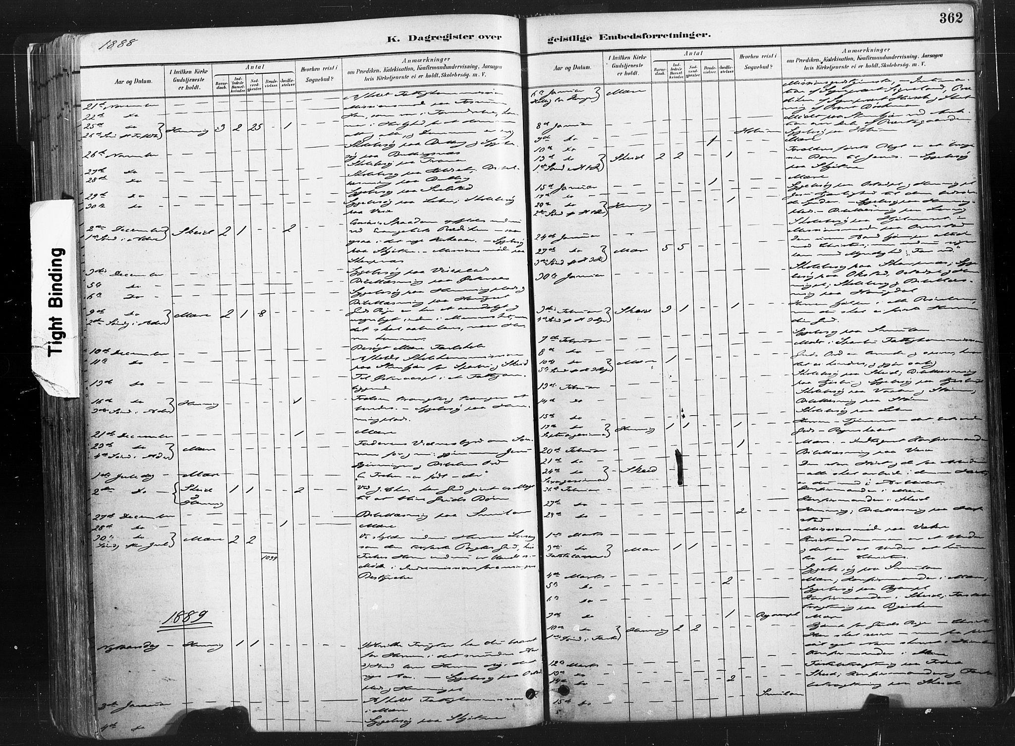 SAT, Ministerialprotokoller, klokkerbøker og fødselsregistre - Nord-Trøndelag, 735/L0351: Ministerialbok nr. 735A10, 1884-1908, s. 362