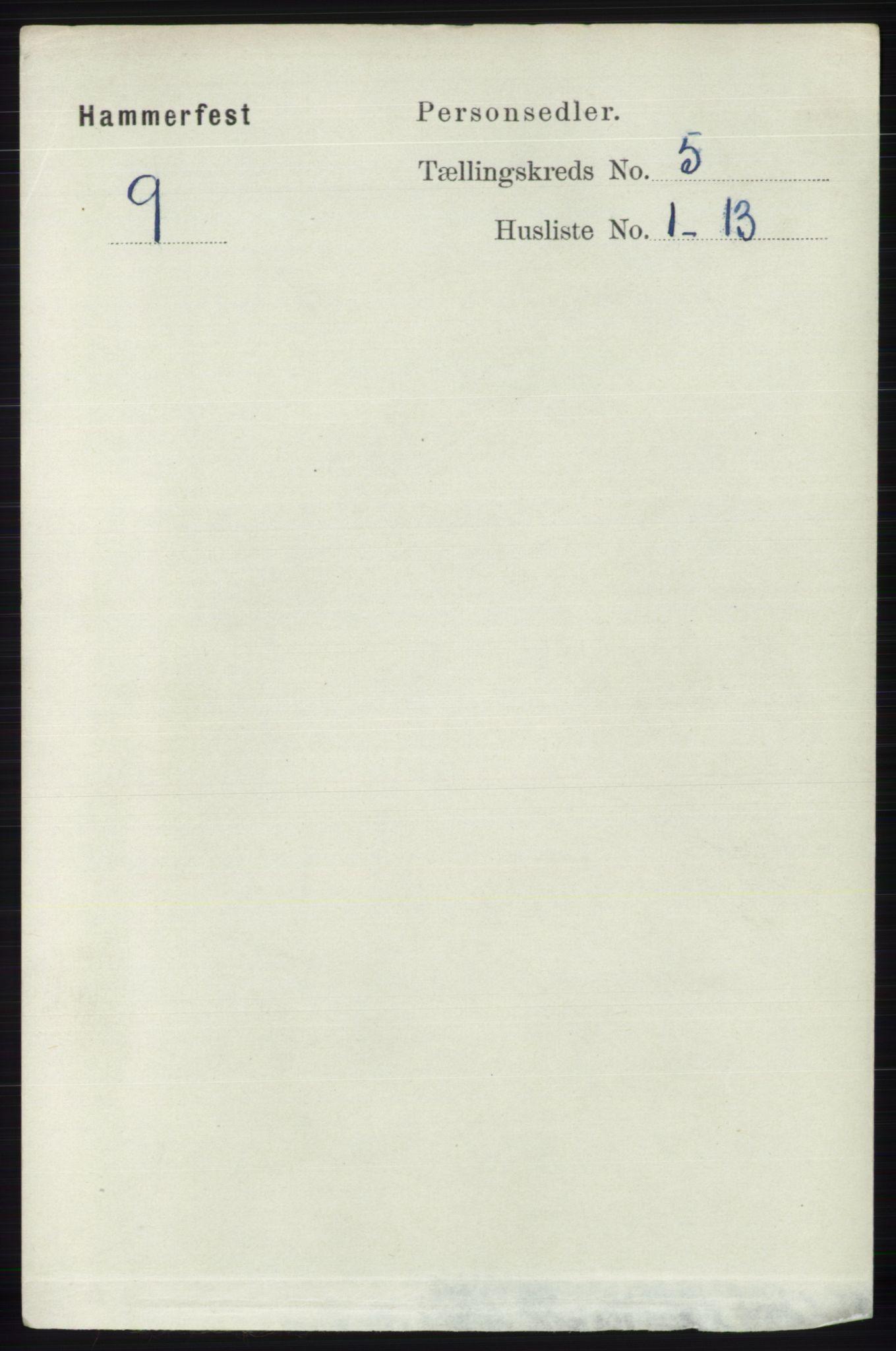 RA, Folketelling 1891 for 2001 Hammerfest kjøpstad, 1891, s. 1358