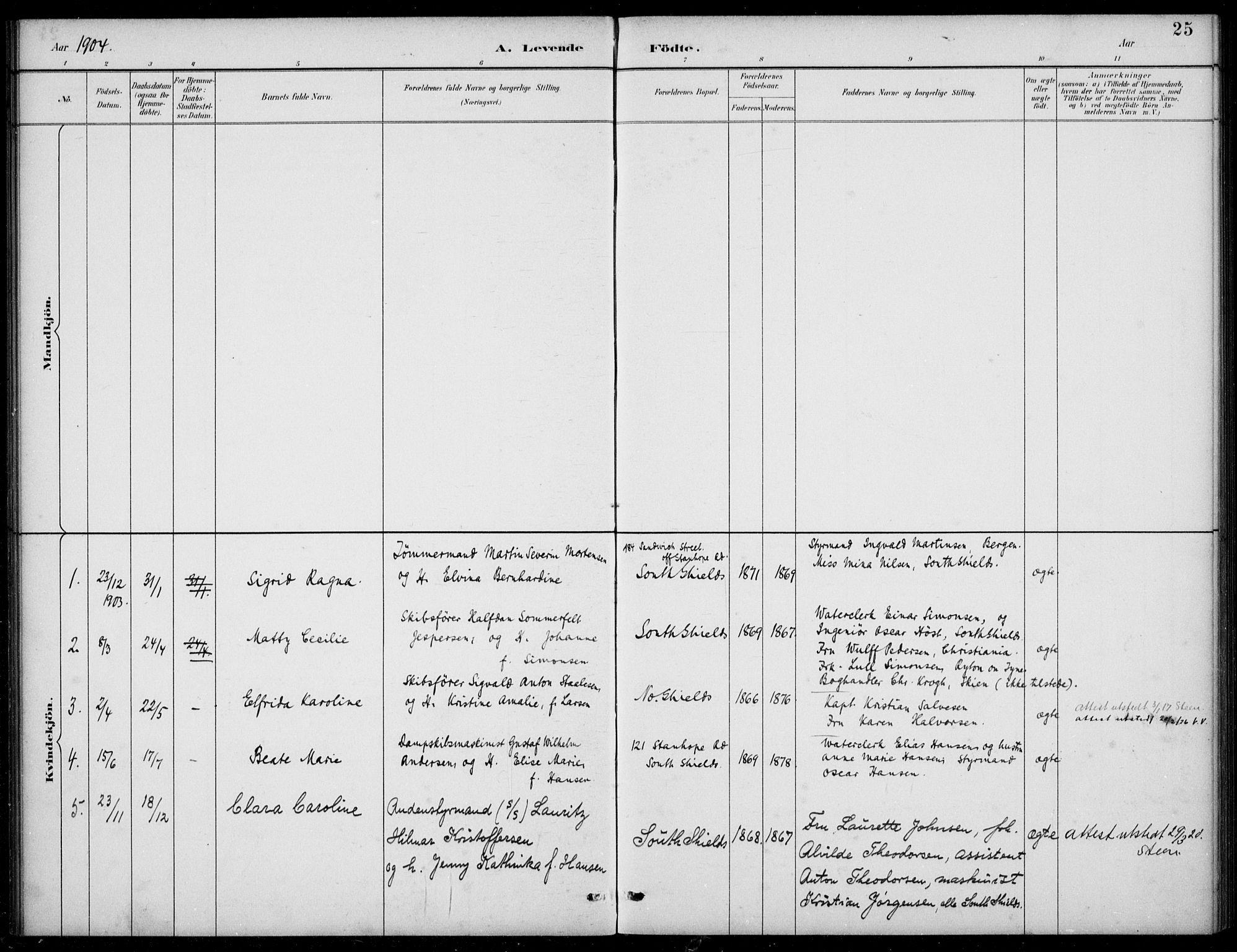SAB, Den Norske Sjømannsmisjon i utlandet*, Ministerialbok nr. A 2, 1883-1936, s. 25