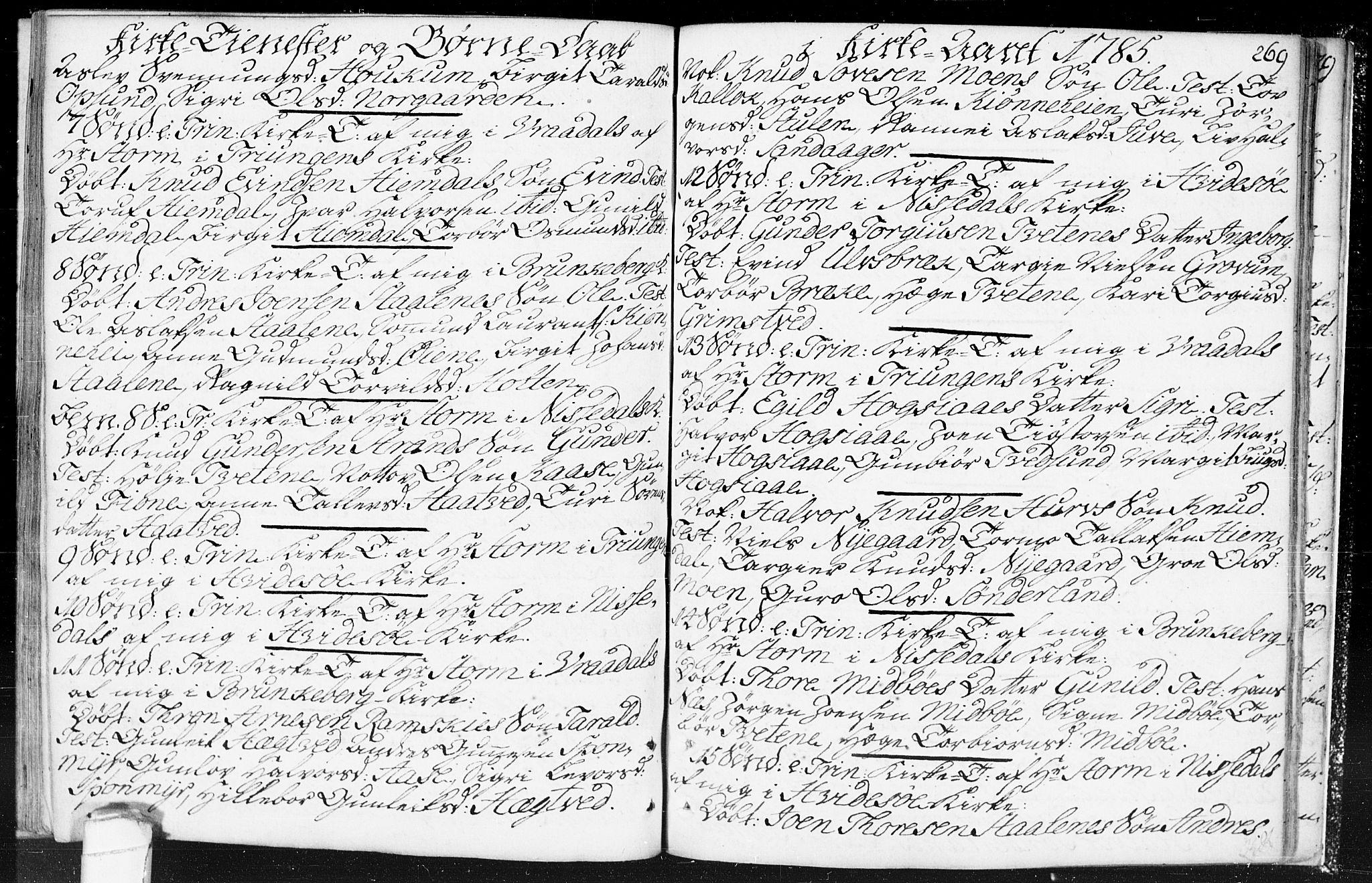 SAKO, Kviteseid kirkebøker, F/Fa/L0002: Ministerialbok nr. I 2, 1773-1786, s. 269