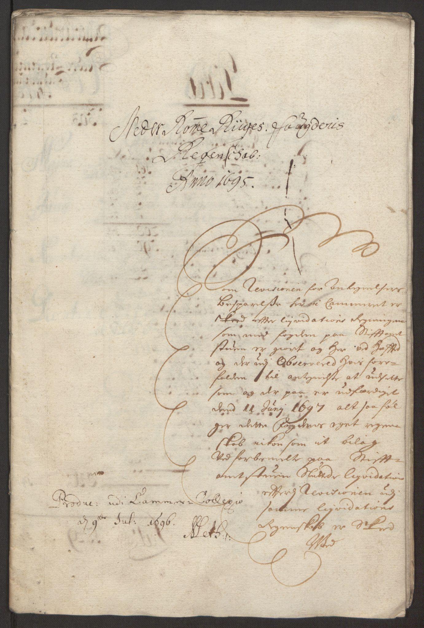 RA, Rentekammeret inntil 1814, Reviderte regnskaper, Fogderegnskap, R11/L0579: Fogderegnskap Nedre Romerike, 1694-1695, s. 231