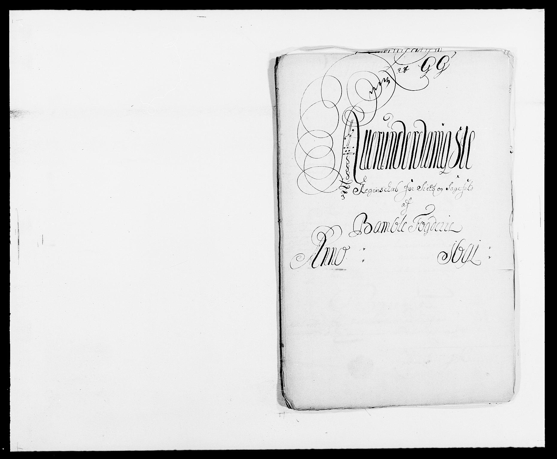 RA, Rentekammeret inntil 1814, Reviderte regnskaper, Fogderegnskap, R34/L2051: Fogderegnskap Bamble, 1688-1691, s. 156