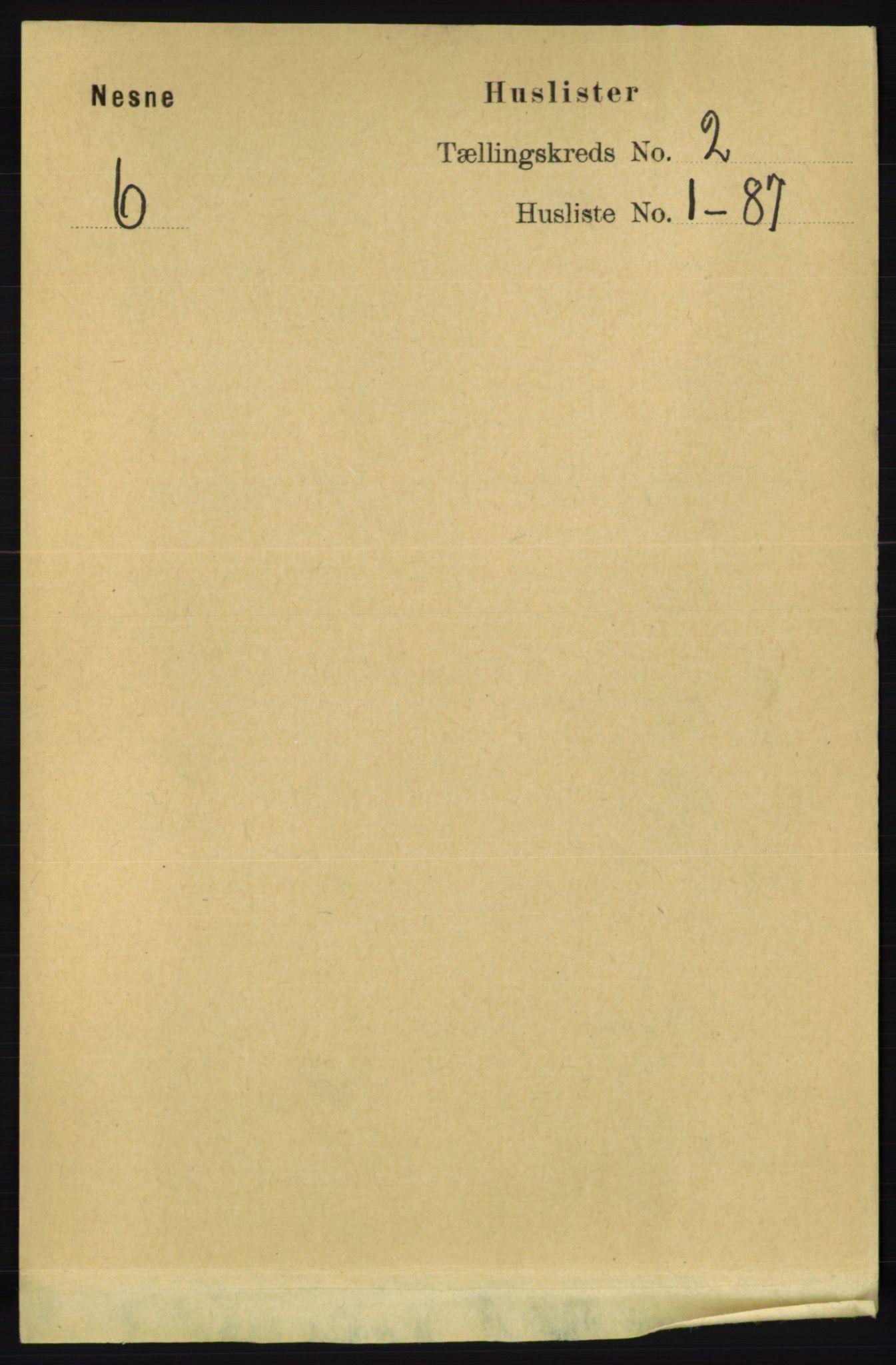 RA, Folketelling 1891 for 1828 Nesna herred, 1891, s. 742