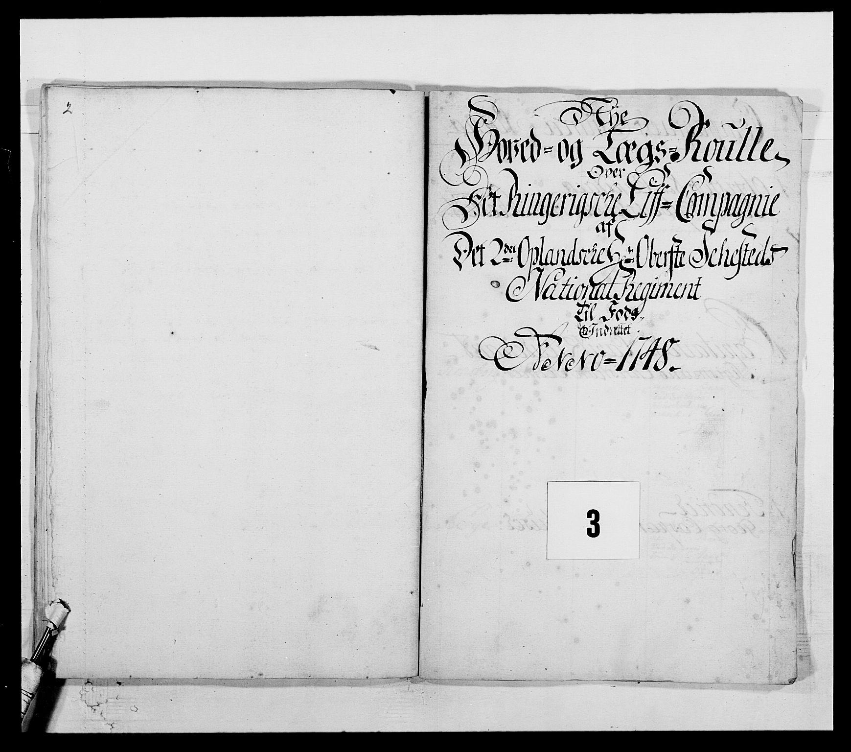 RA, Kommanderende general (KG I) med Det norske krigsdirektorium, E/Ea/L0505: 2. Opplandske regiment, 1748, s. 66