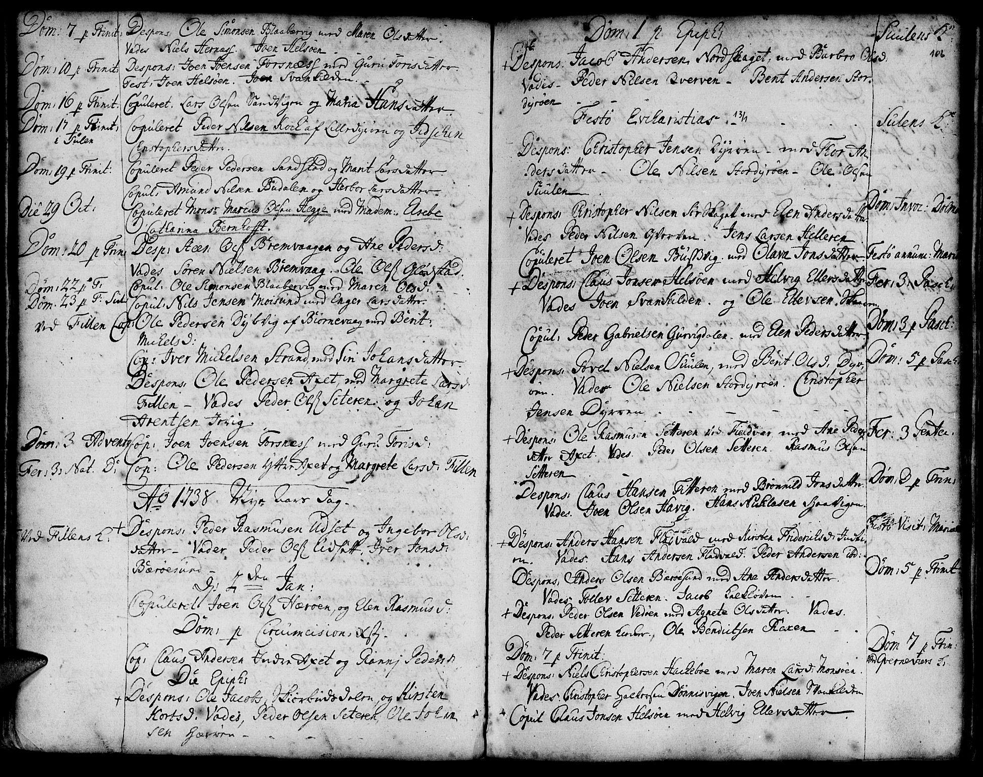 SAT, Ministerialprotokoller, klokkerbøker og fødselsregistre - Sør-Trøndelag, 634/L0525: Ministerialbok nr. 634A01, 1736-1775, s. 106