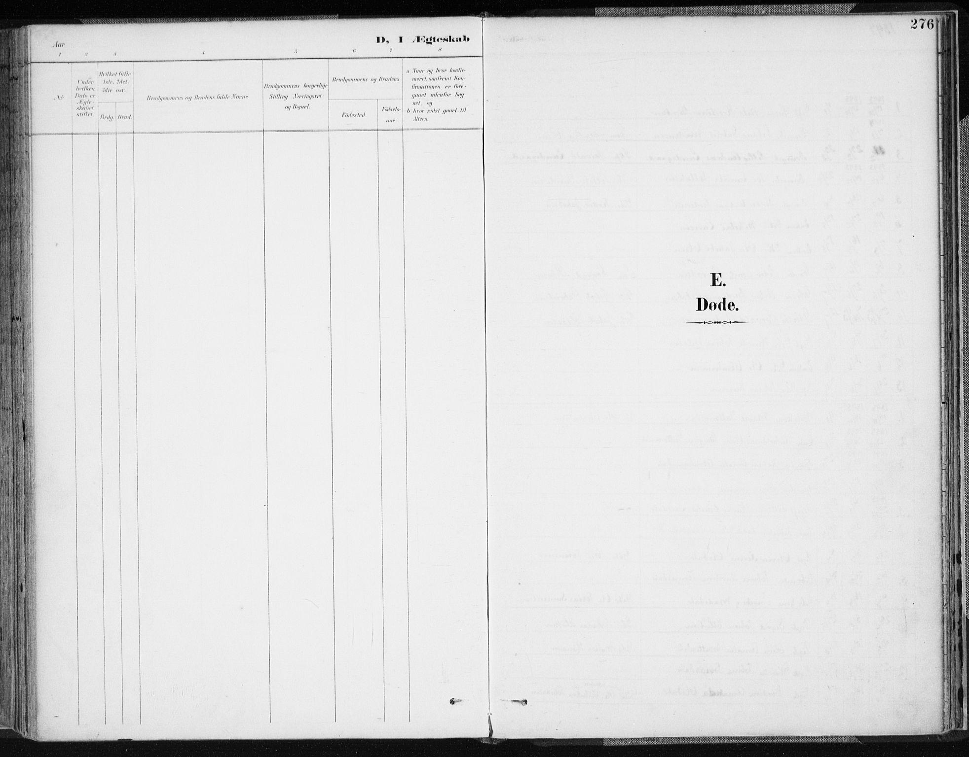 SAK, Lyngdal sokneprestkontor, F/Fa/Fac/L0012: Ministerialbok nr. A 12, 1894-1918, s. 276