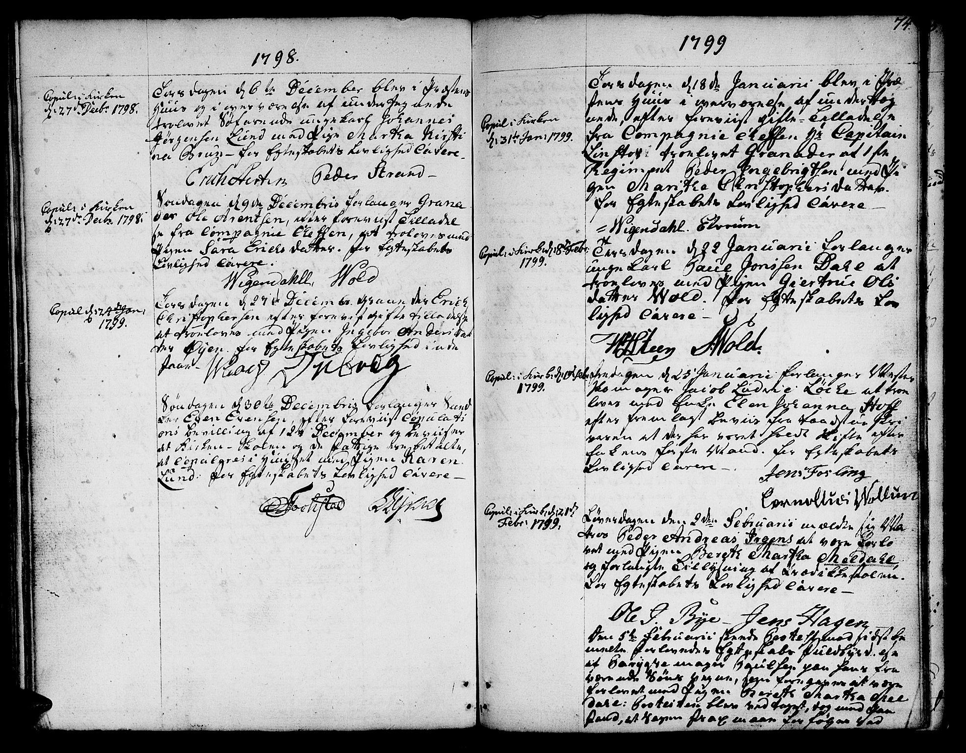 SAT, Ministerialprotokoller, klokkerbøker og fødselsregistre - Sør-Trøndelag, 601/L0041: Ministerialbok nr. 601A09, 1784-1801, s. 74