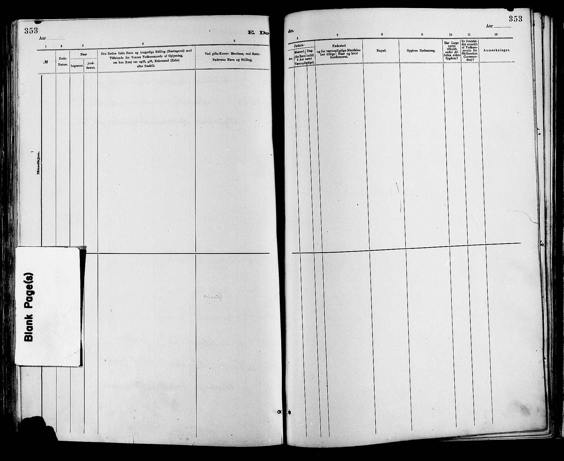 SAH, Sør-Fron prestekontor, H/Ha/Haa/L0003: Ministerialbok nr. 3, 1881-1897, s. 353