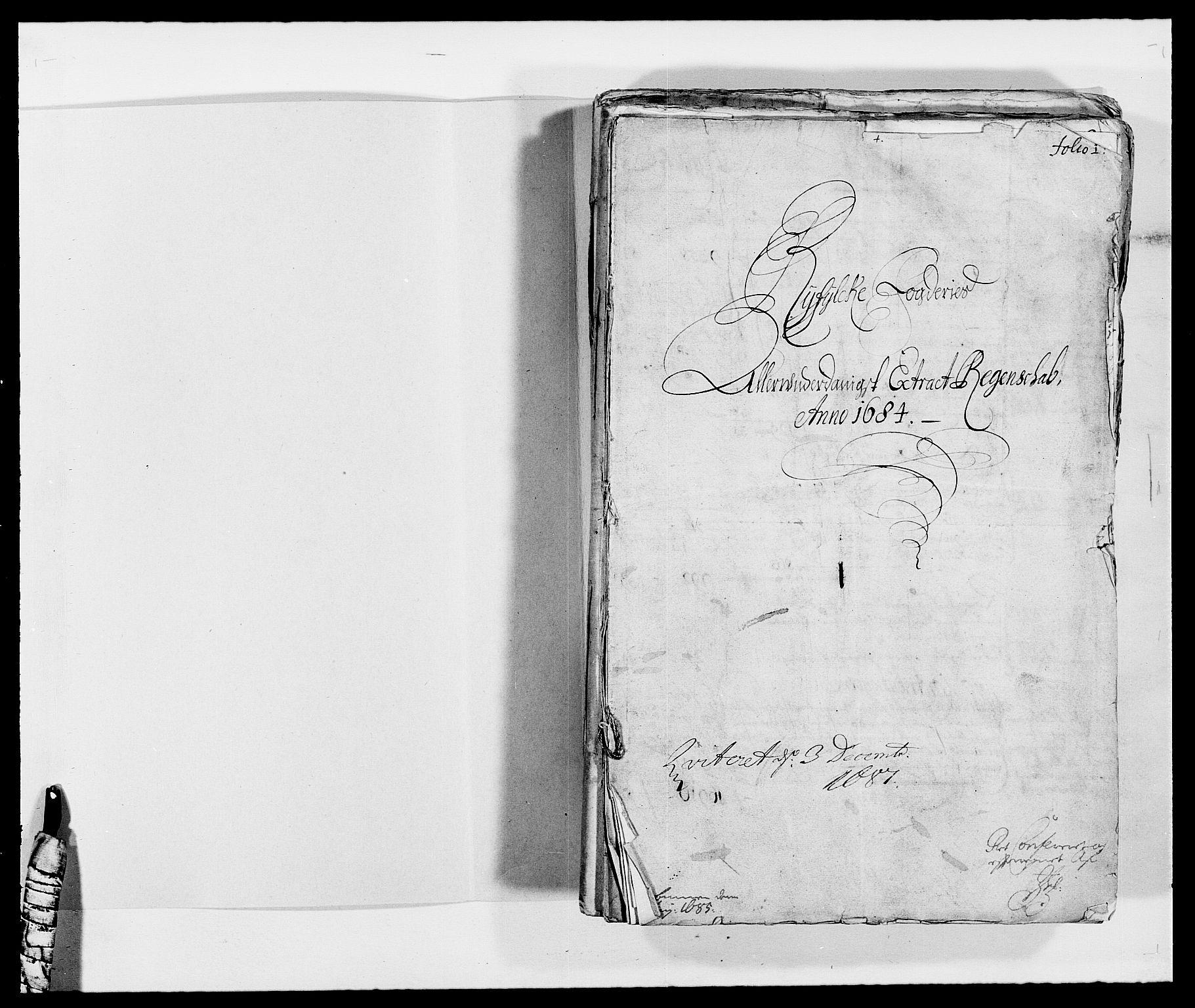RA, Rentekammeret inntil 1814, Reviderte regnskaper, Fogderegnskap, R47/L2854: Fogderegnskap Ryfylke, 1684, s. 2