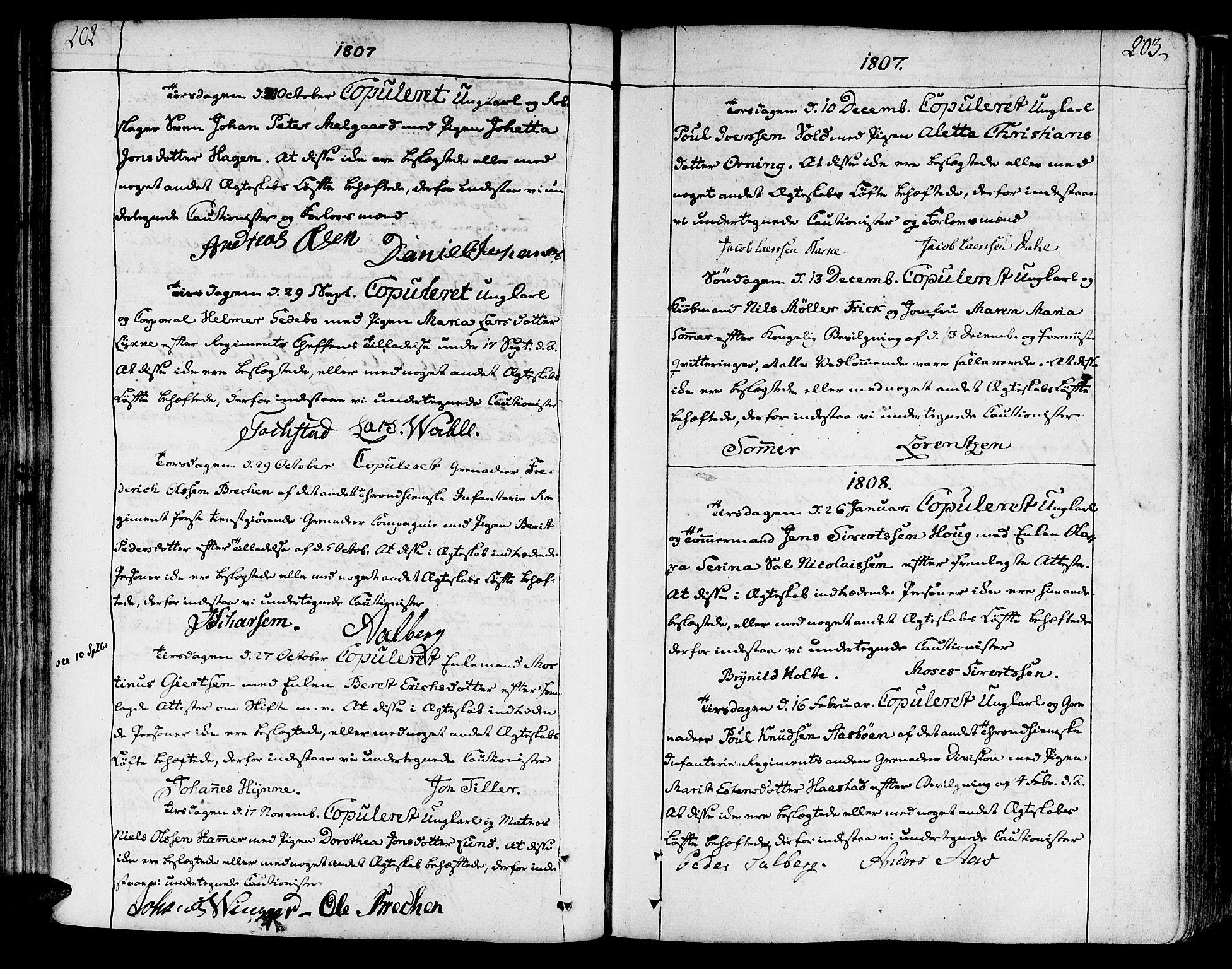 SAT, Ministerialprotokoller, klokkerbøker og fødselsregistre - Sør-Trøndelag, 602/L0105: Ministerialbok nr. 602A03, 1774-1814, s. 202-203