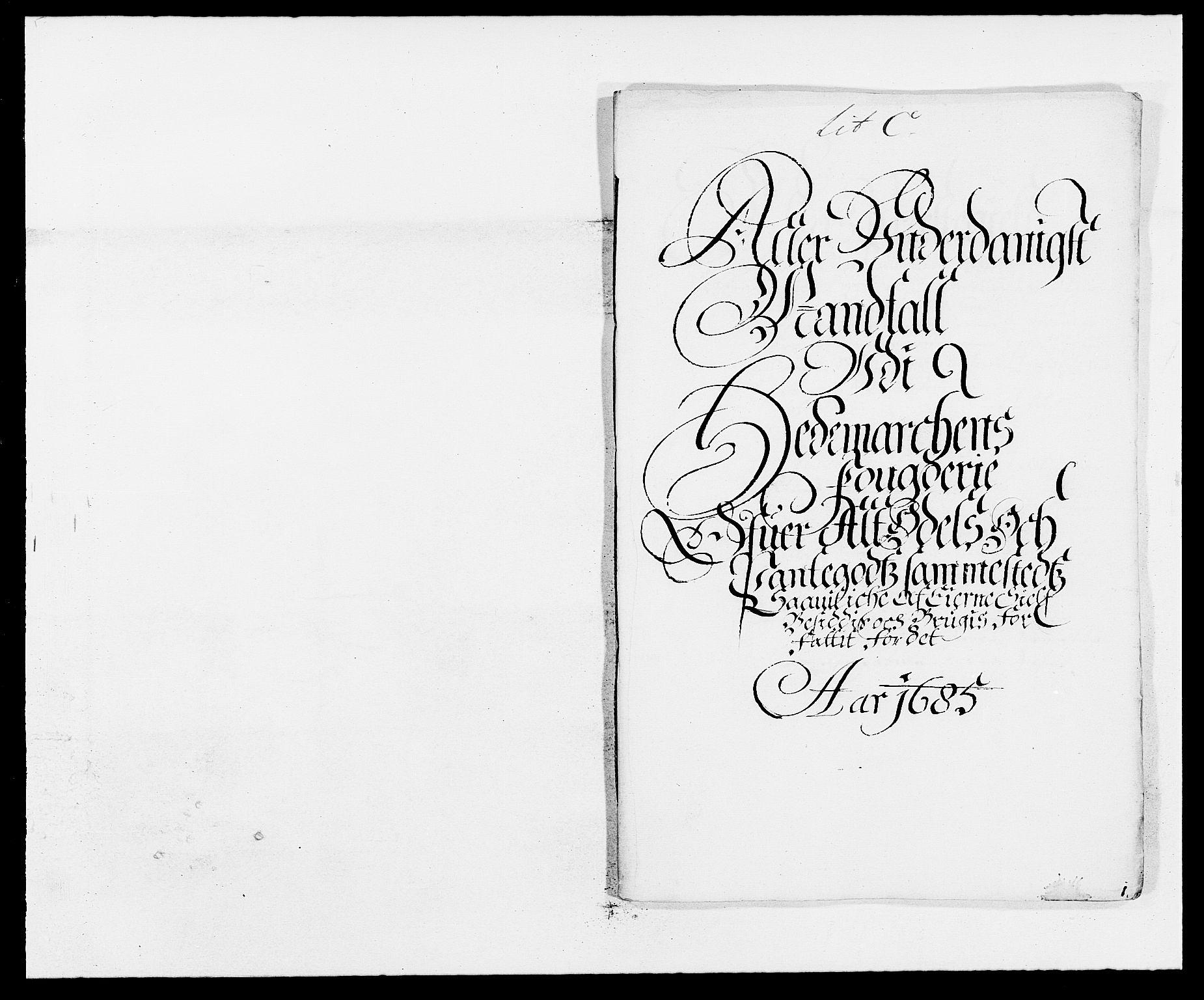 RA, Rentekammeret inntil 1814, Reviderte regnskaper, Fogderegnskap, R16/L1026: Fogderegnskap Hedmark, 1685, s. 73