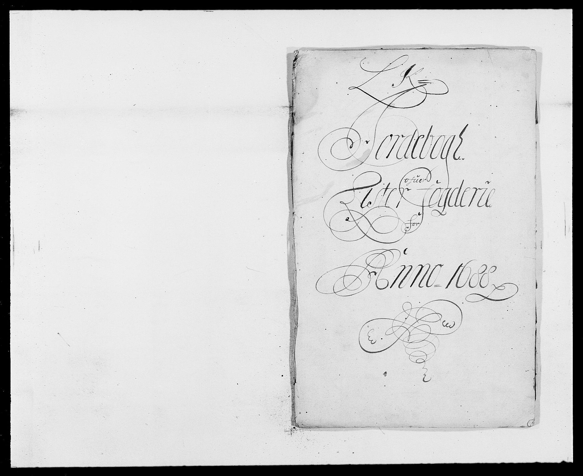 RA, Rentekammeret inntil 1814, Reviderte regnskaper, Fogderegnskap, R41/L2534: Fogderegnskap Lista, 1686-1688, s. 175