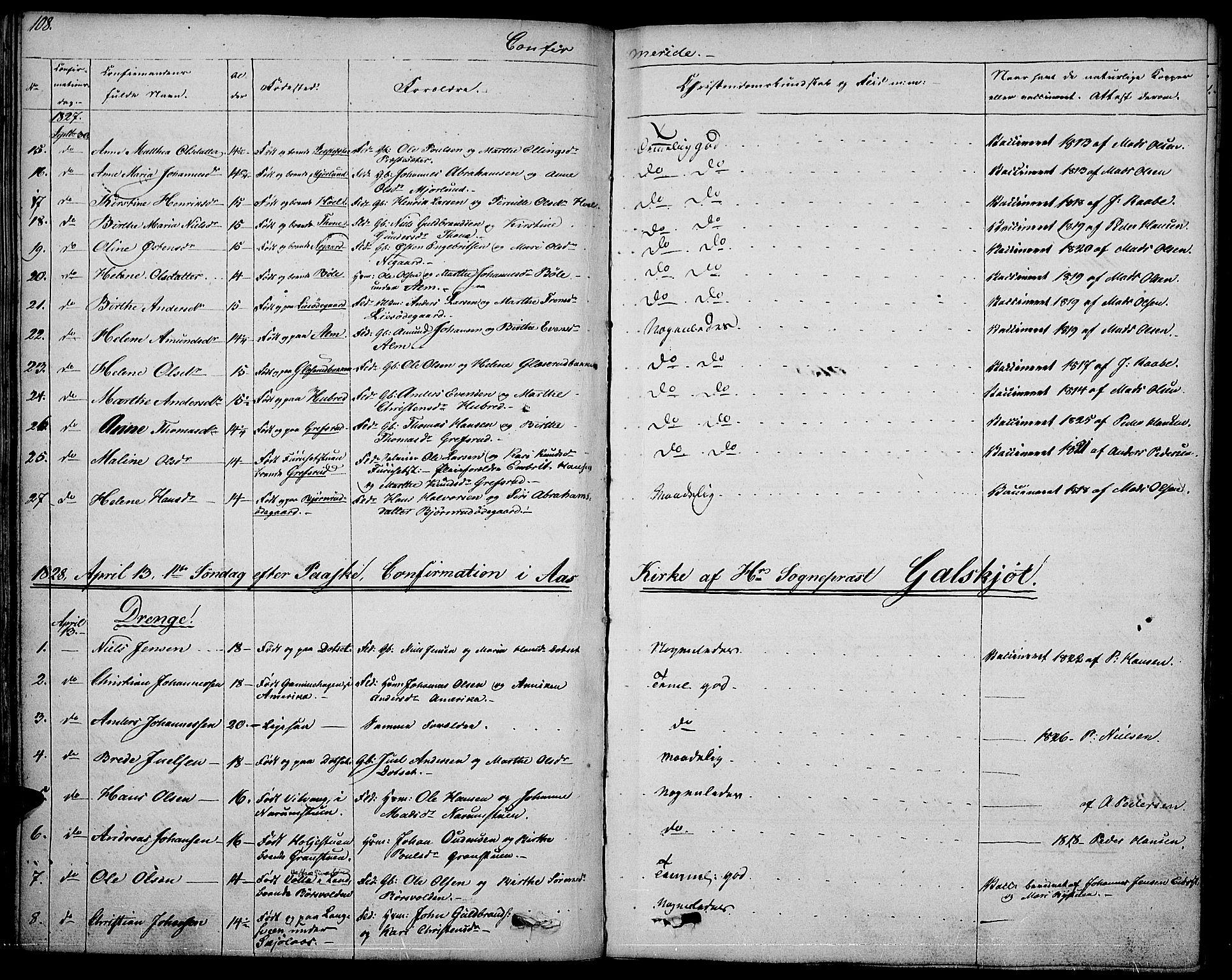 SAH, Vestre Toten prestekontor, Ministerialbok nr. 2, 1825-1837, s. 108