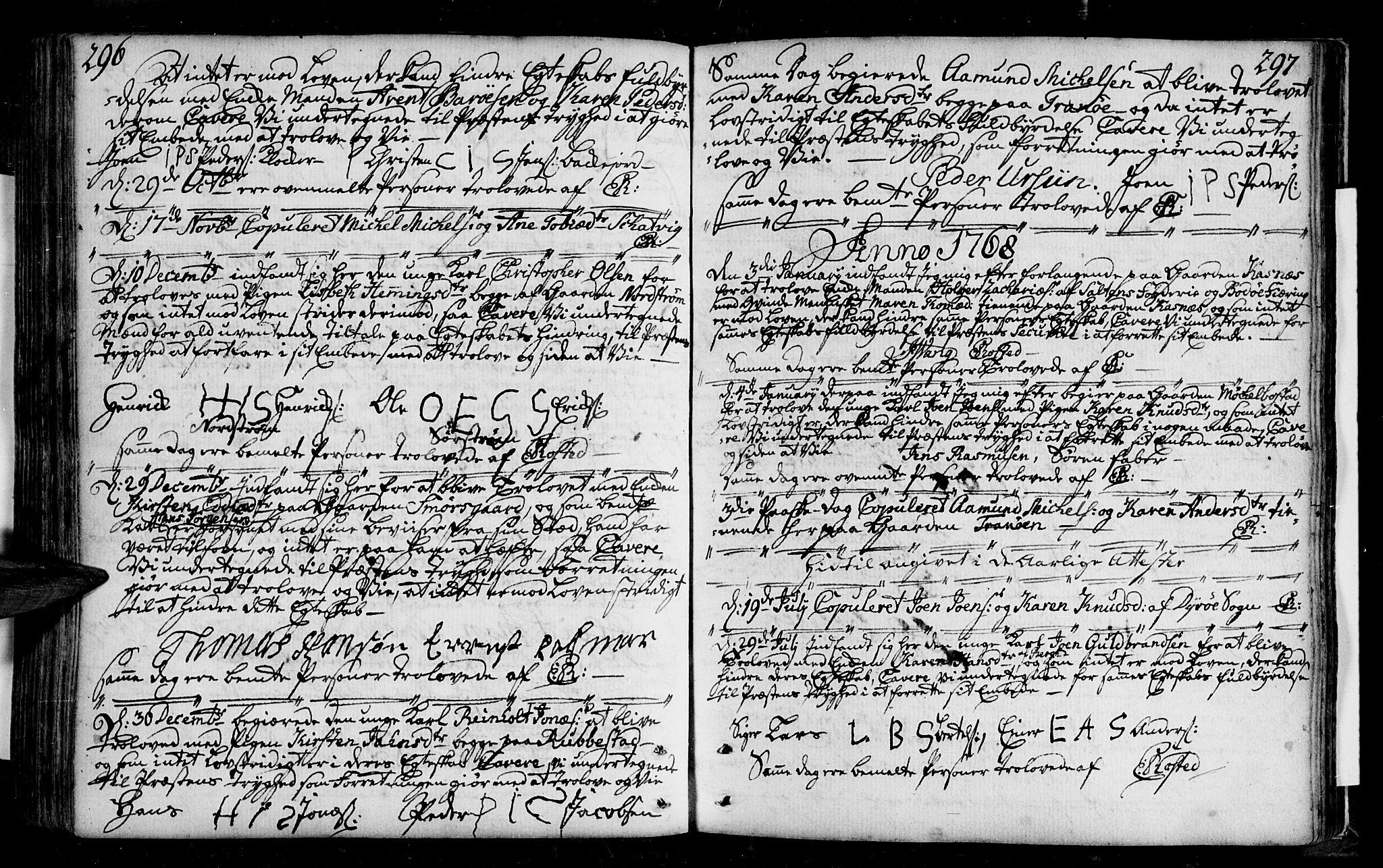 SATØ, Tranøy sokneprestkontor, I/Ia/Iaa/L0001kirke: Ministerialbok nr. 1, 1757-1773, s. 296-297