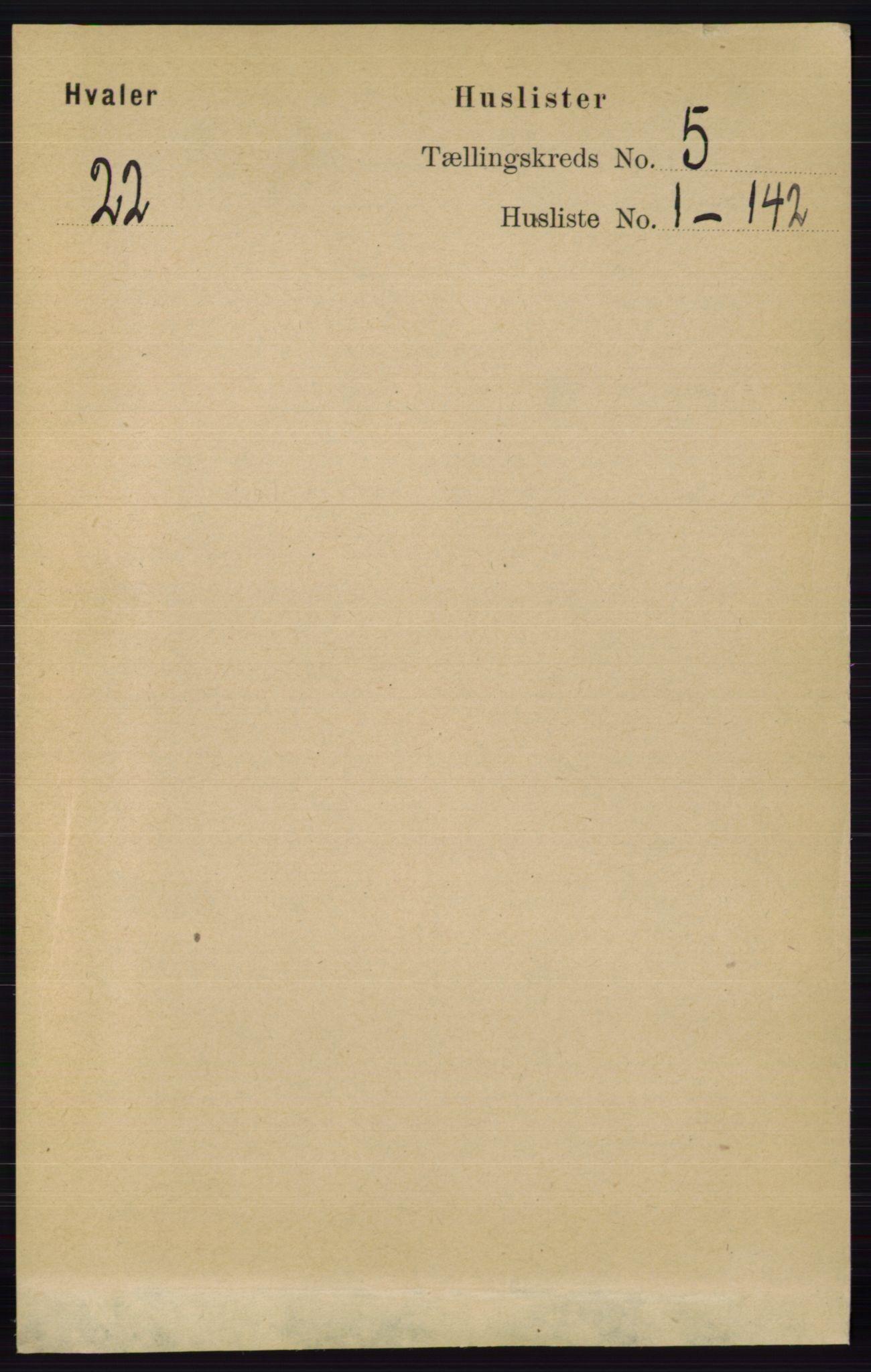 RA, Folketelling 1891 for 0111 Hvaler herred, 1891, s. 3039