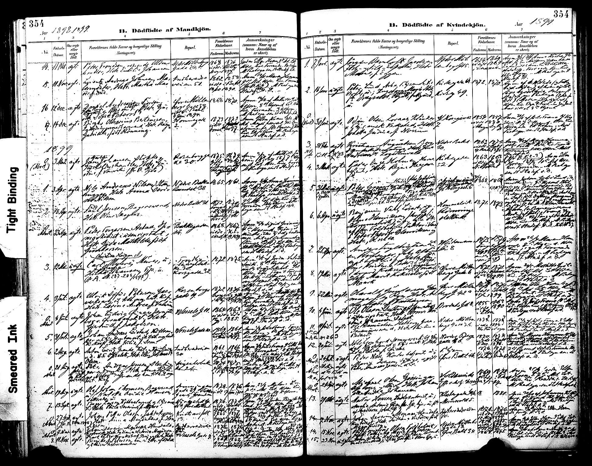 SAT, Ministerialprotokoller, klokkerbøker og fødselsregistre - Sør-Trøndelag, 604/L0197: Ministerialbok nr. 604A18, 1893-1900, s. 354