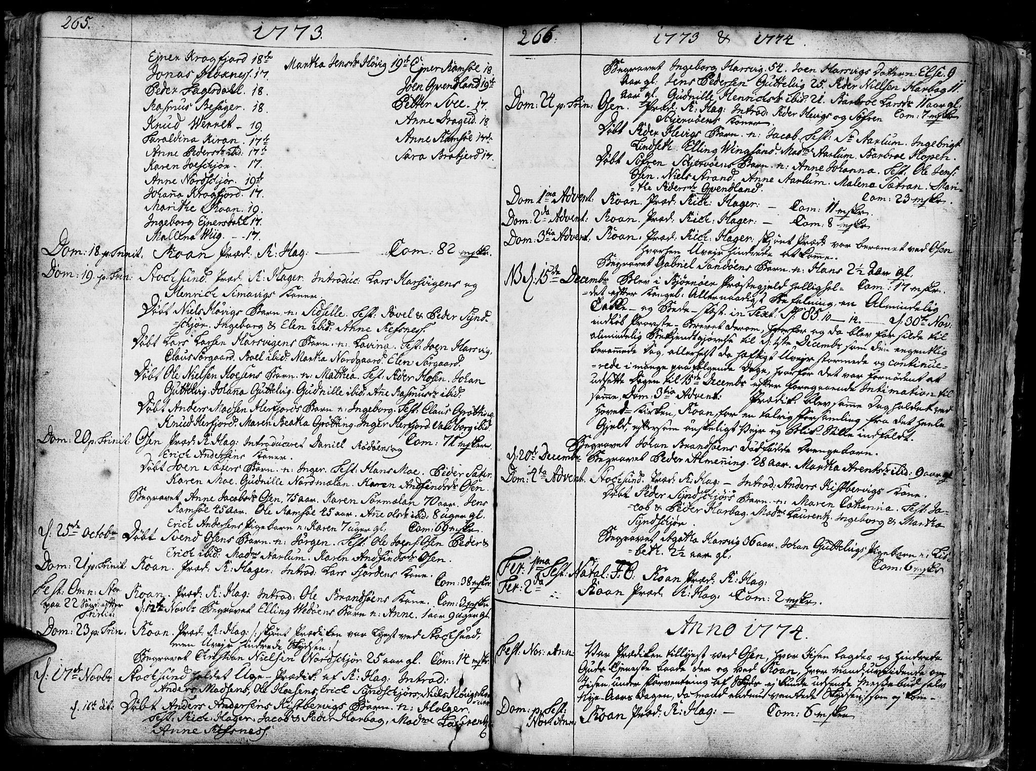 SAT, Ministerialprotokoller, klokkerbøker og fødselsregistre - Sør-Trøndelag, 657/L0700: Ministerialbok nr. 657A01, 1732-1801, s. 265-266